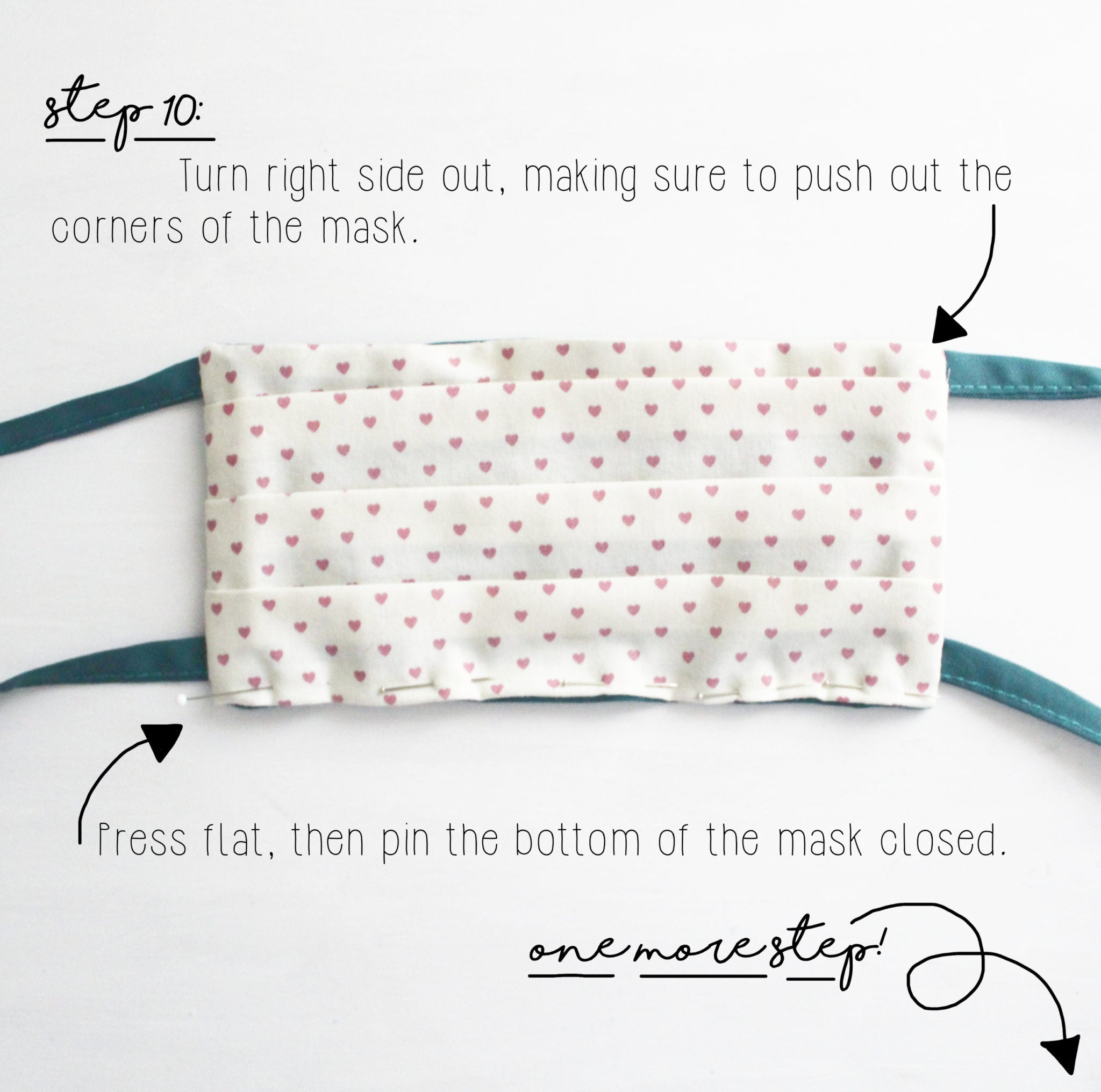 How To Make A Face Mask: DIY Sewing Tutorial, Step 10