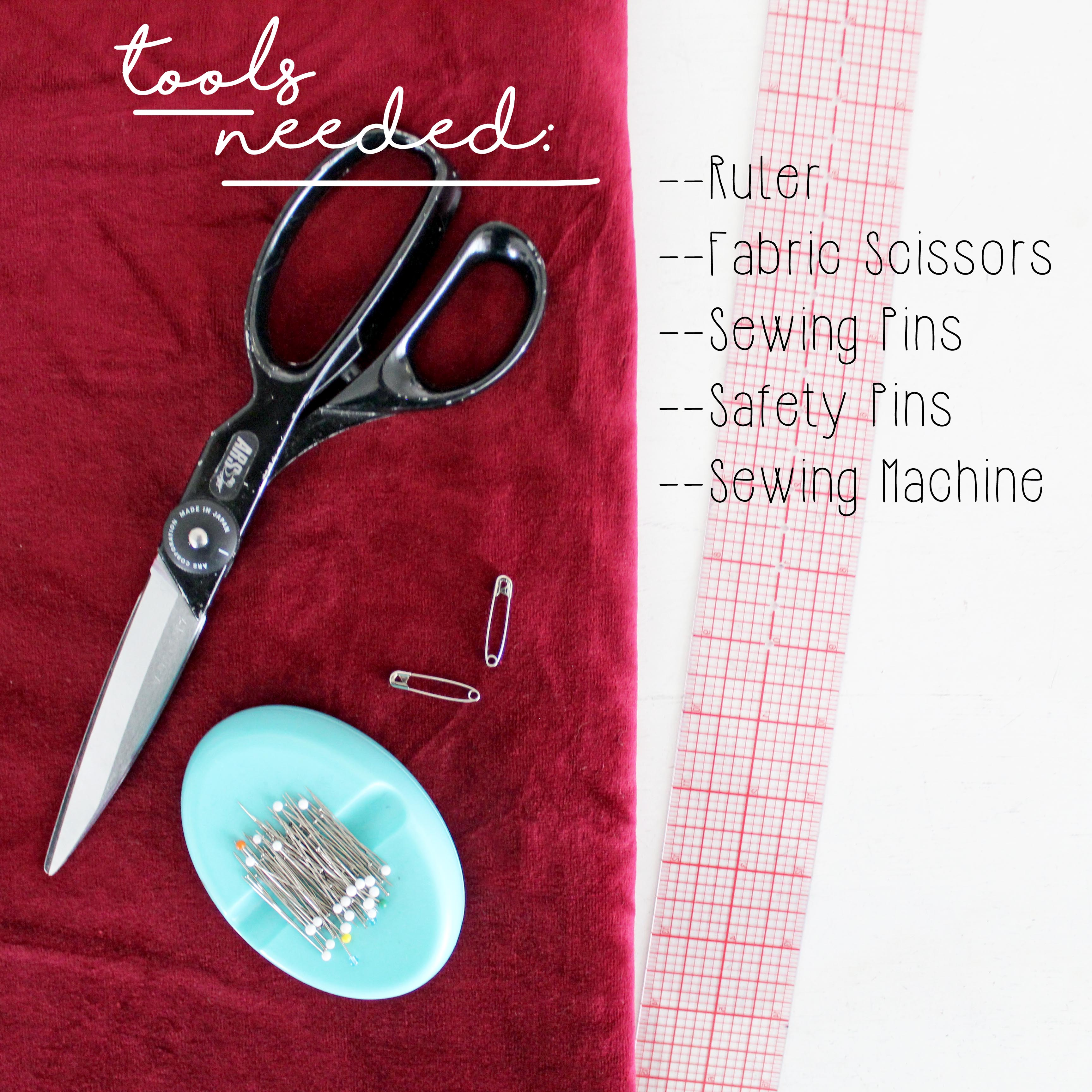 How To Make A Scrunchie DIY Sewing Tutorial: Tools Needed
