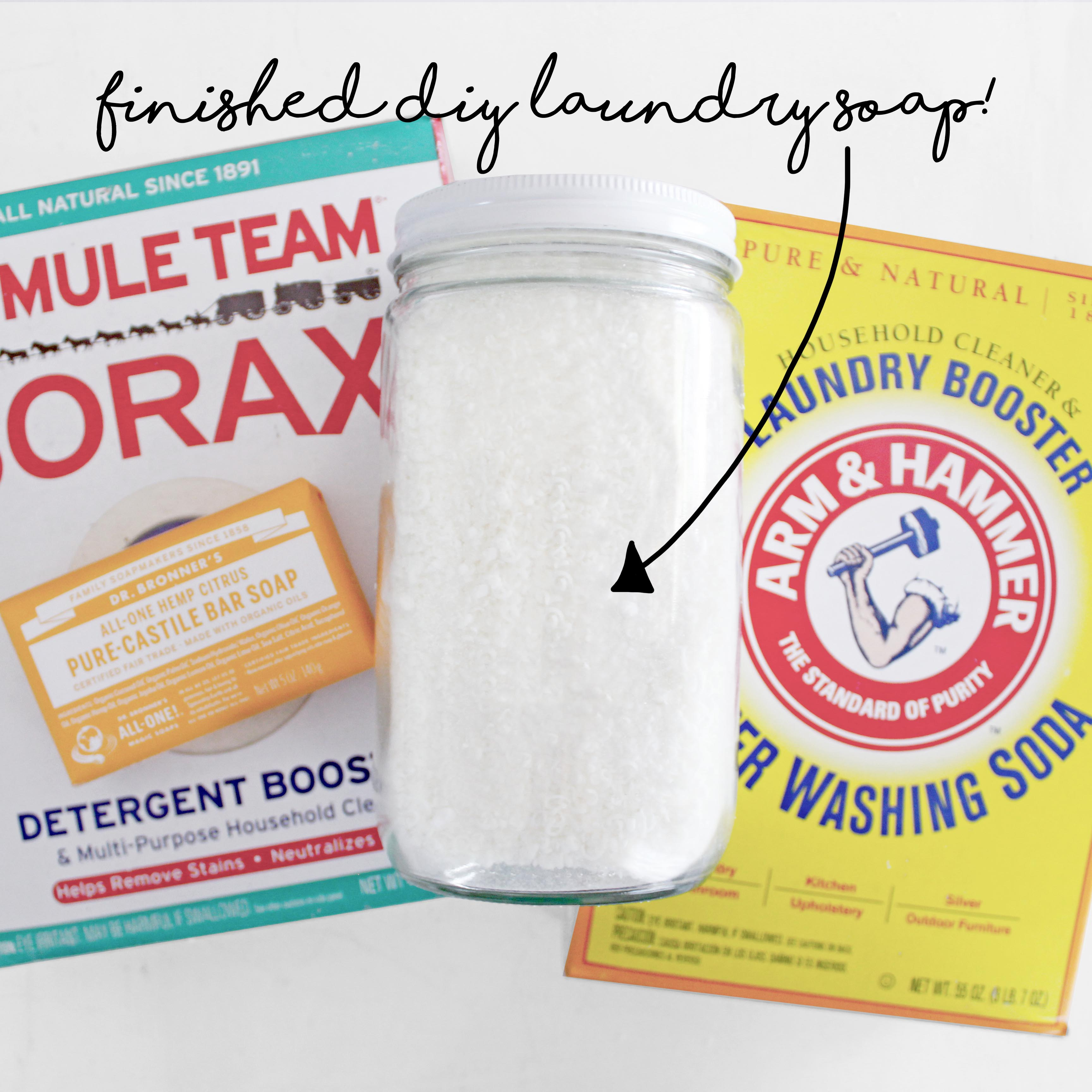 How To Make DIY Laundry Soap Finished Soap