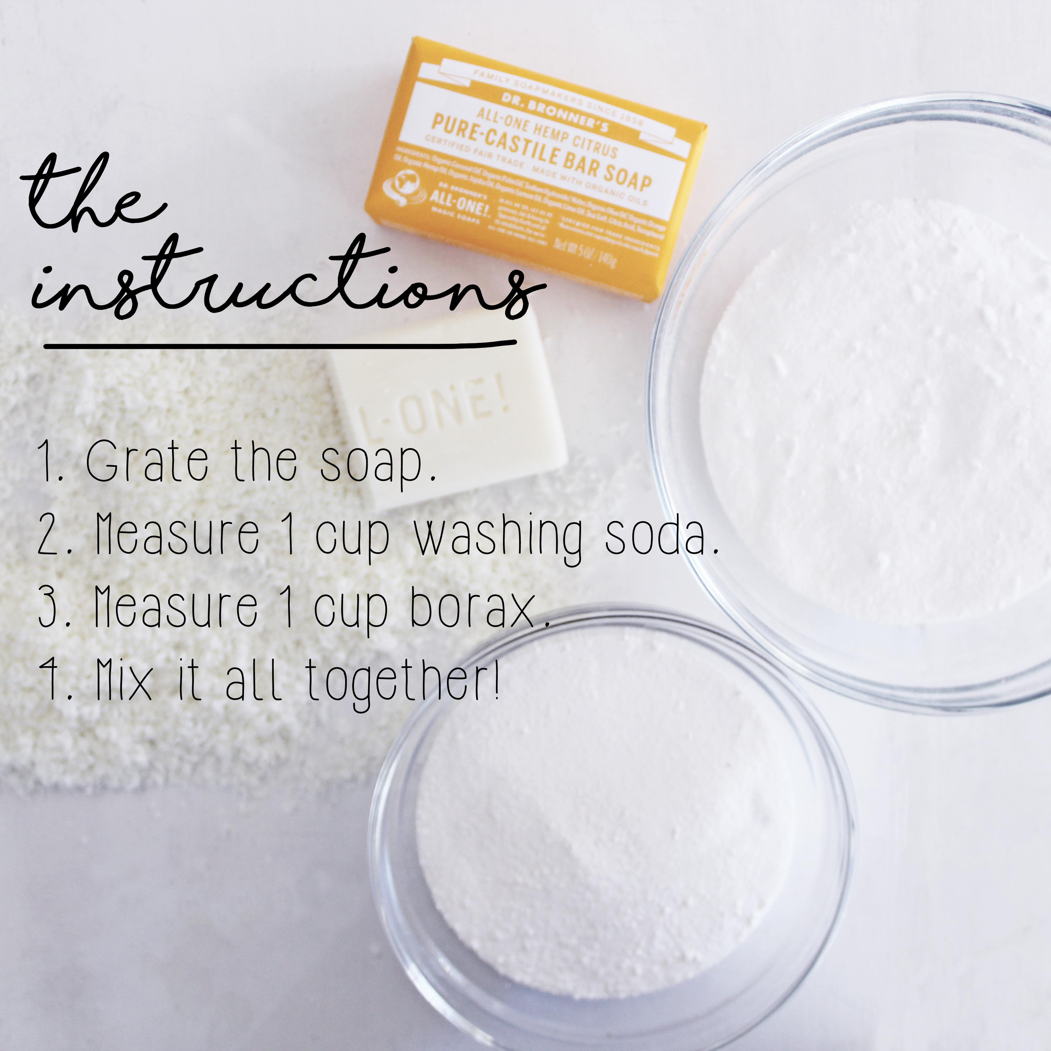 How To Make DIY Laundry Soap Instructions