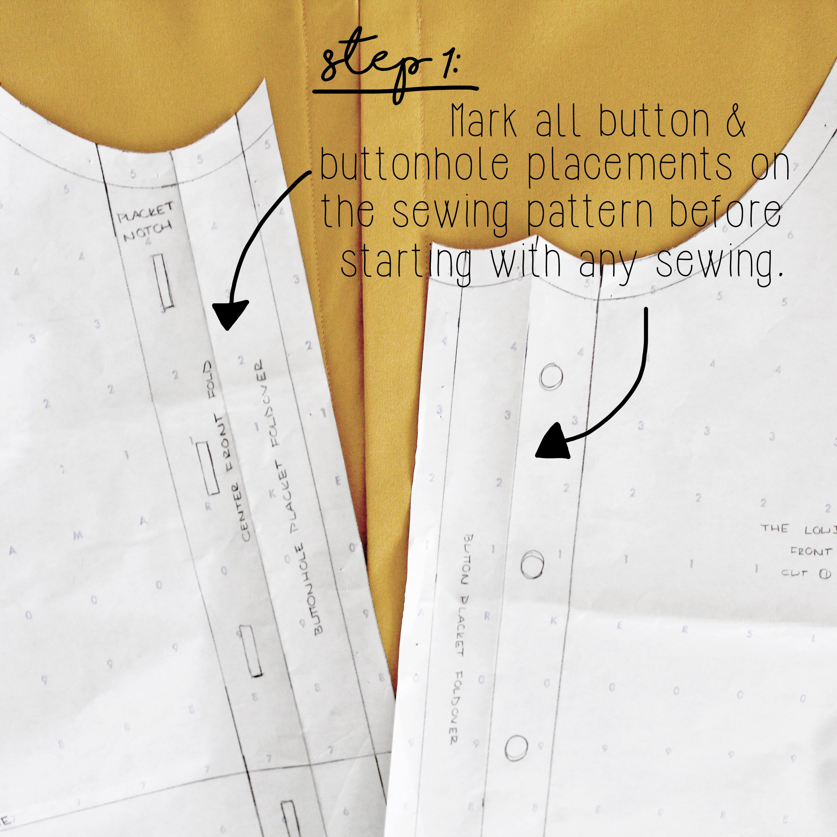 How To Sew A Button Sewing Tutorial Step 1