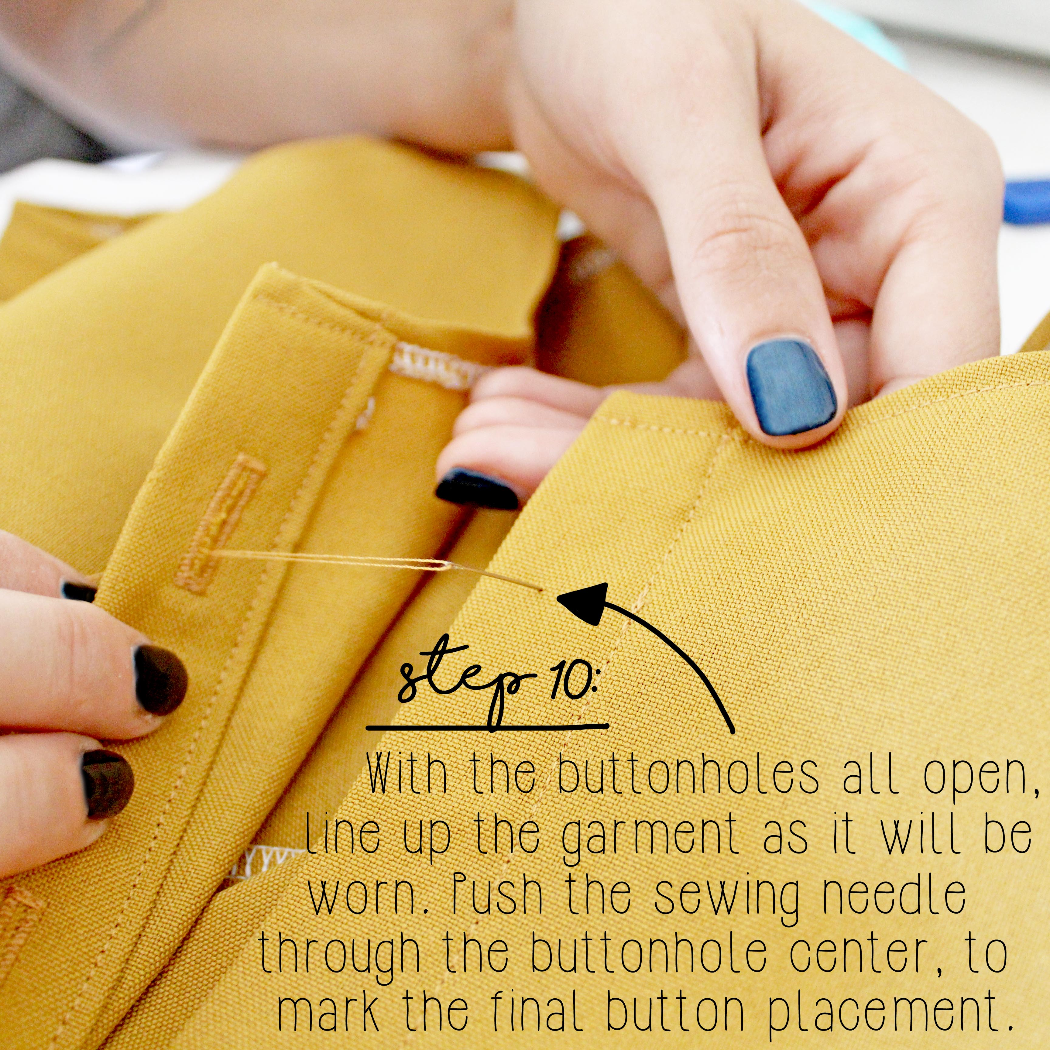 How To Sew A Button Sewing Tutorial Step 10