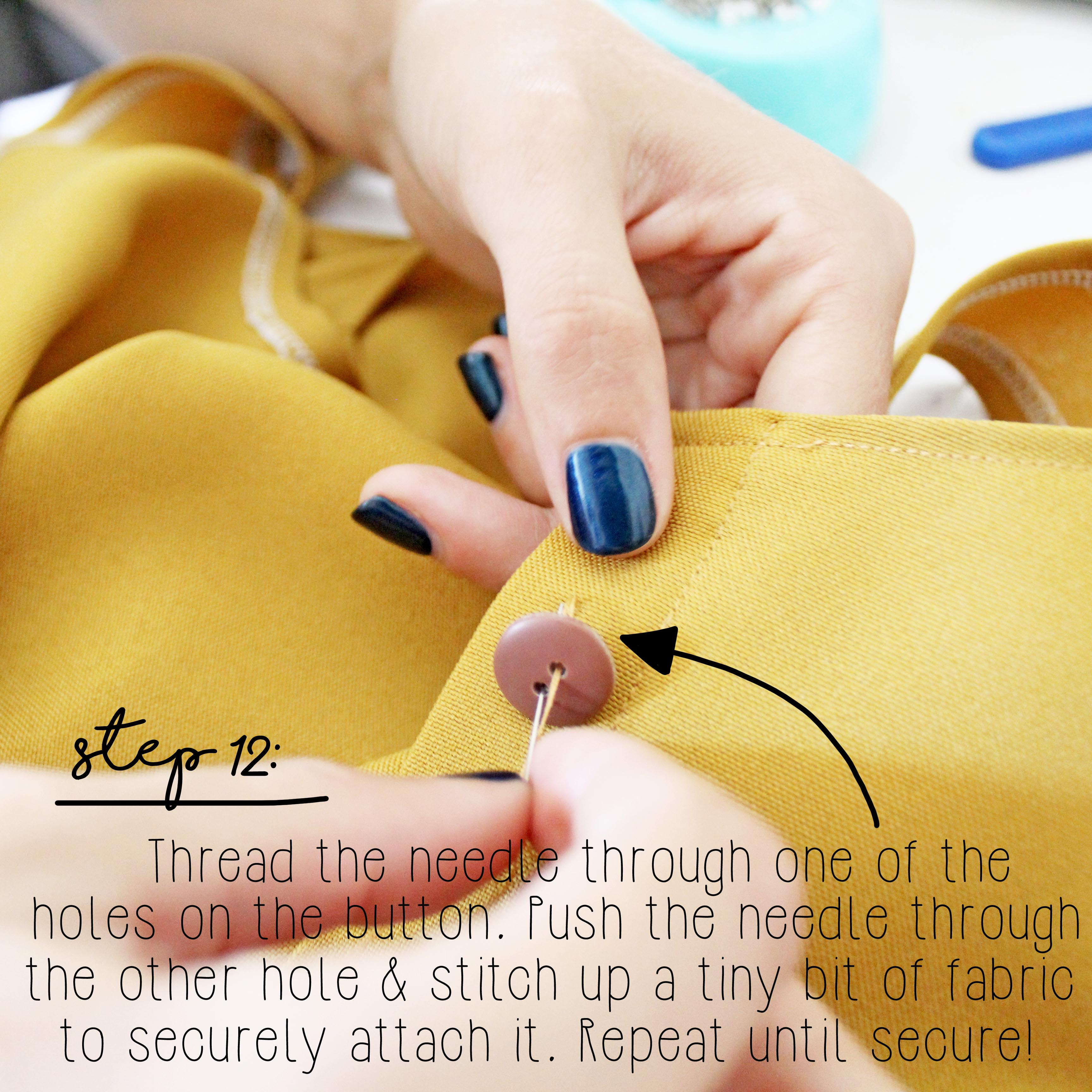 How To Sew A Button Sewing Tutorial Step 12