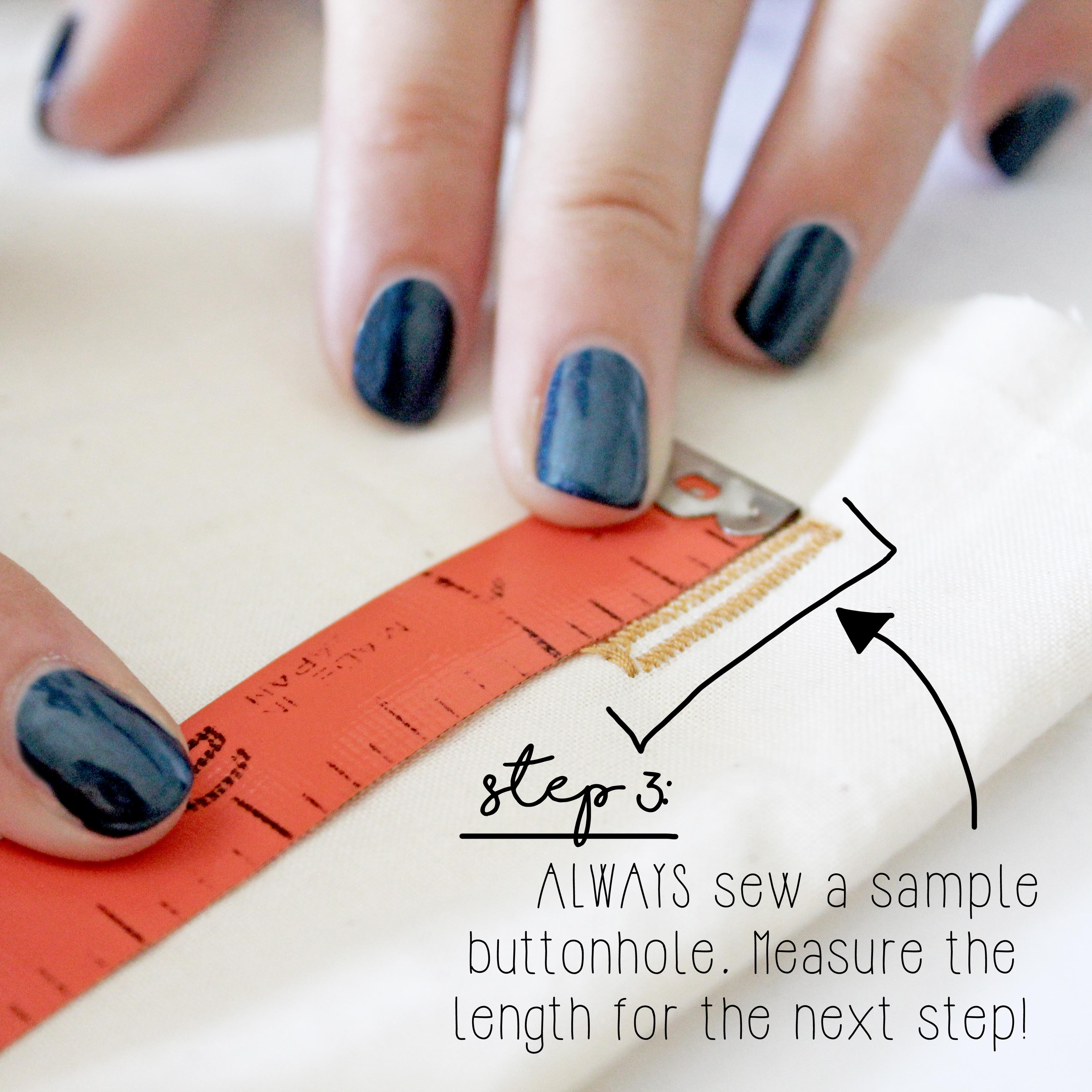 How To Sew A Button Sewing Tutorial Step 3
