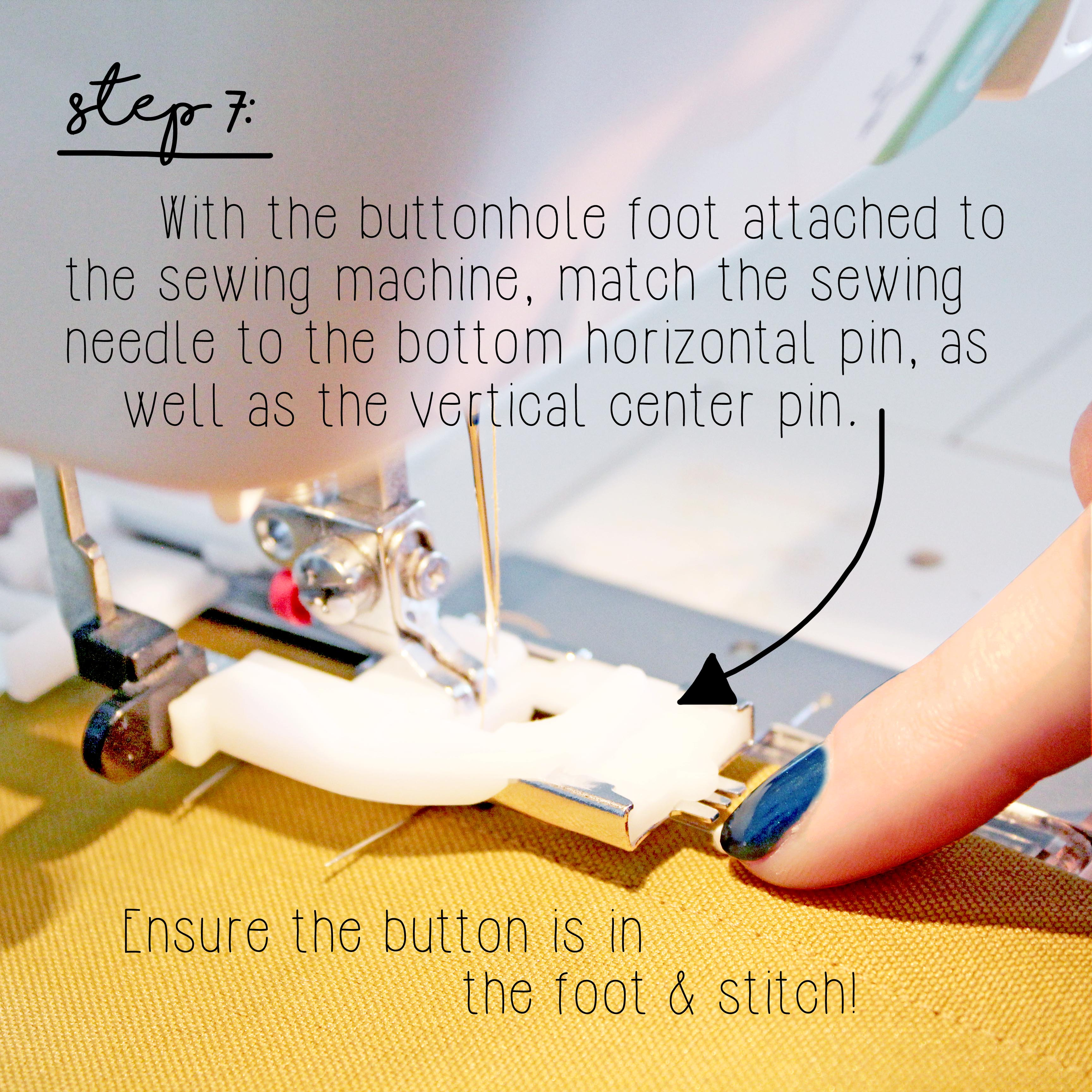 How To Sew A Button Sewing Tutorial Step 7