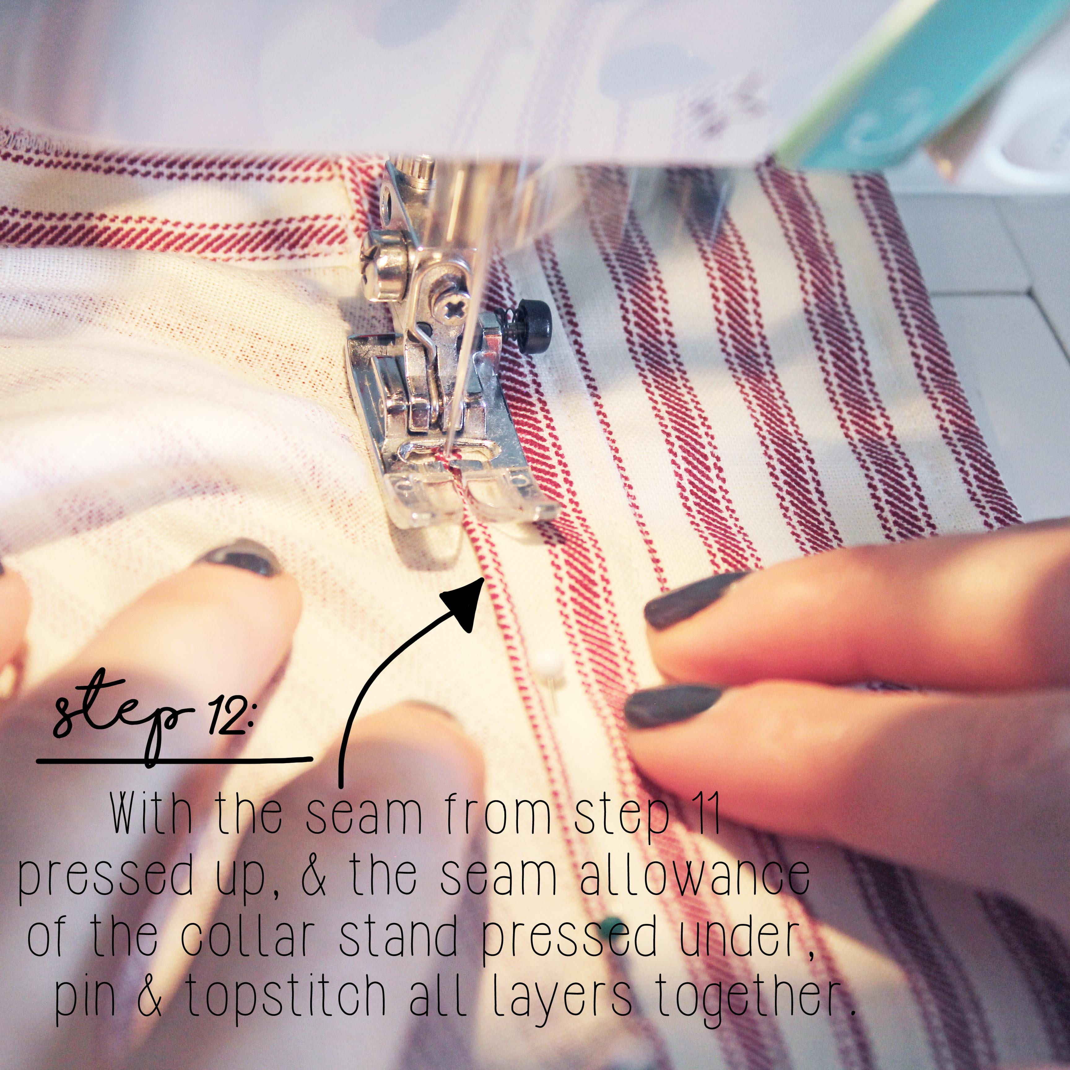 How To Sew A Shirt Collar Step 12