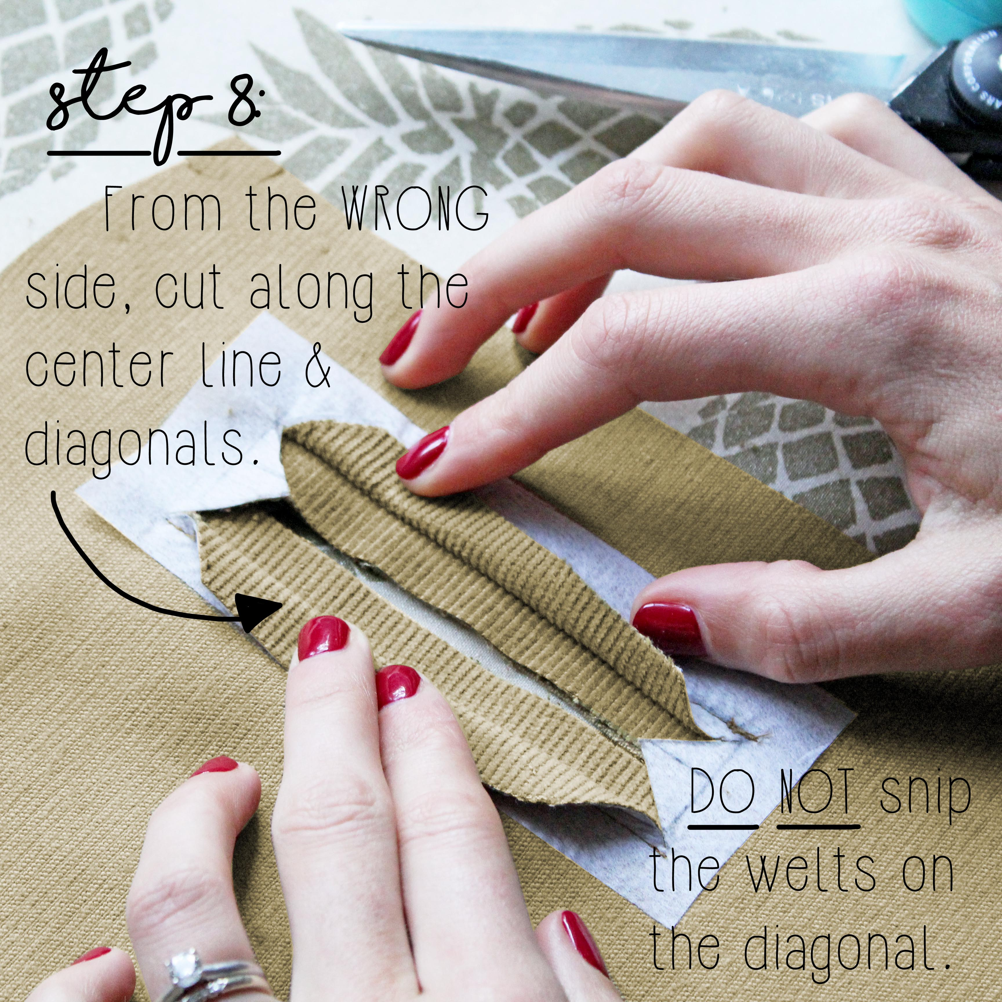How To Sew A Double Welt Pocket Sewing Tutorial: Step 8