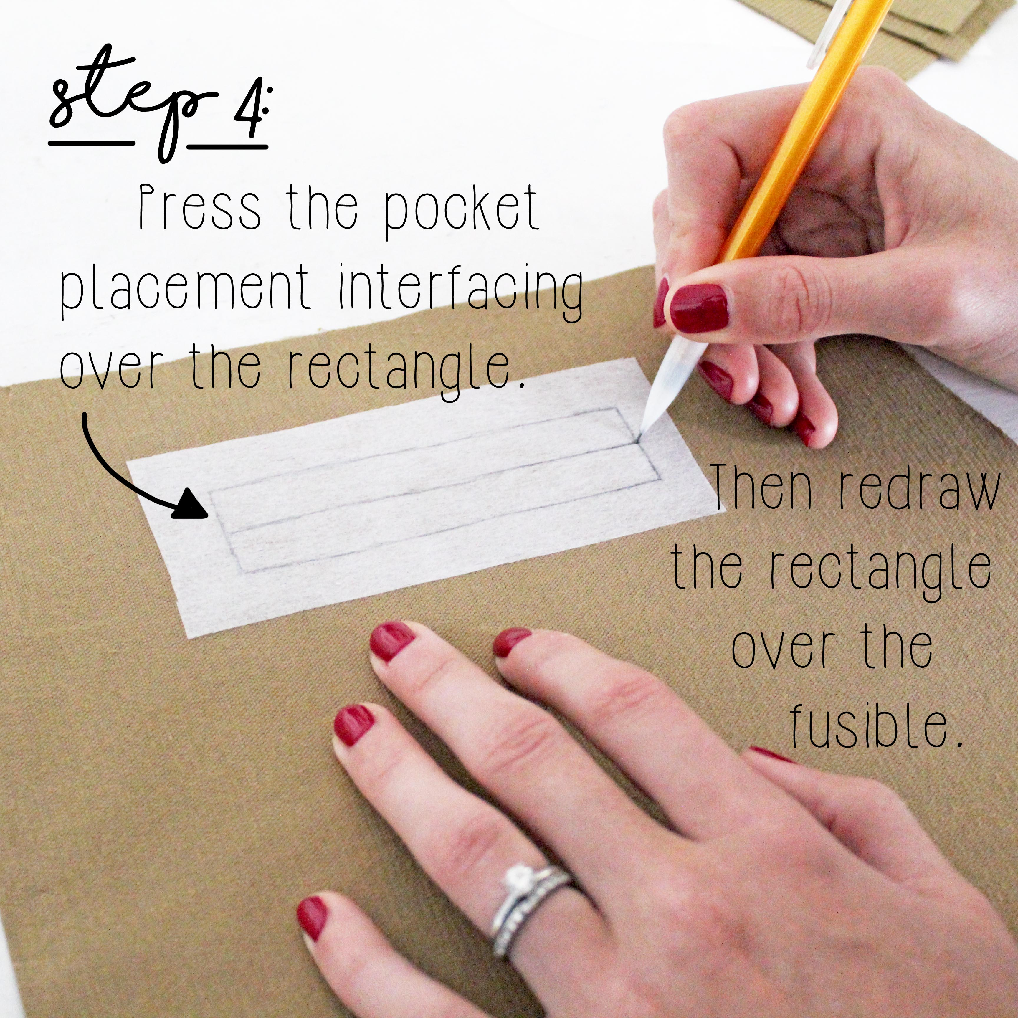 How To Sew A Double Welt Pocket Sewing Tutorial: Step 4