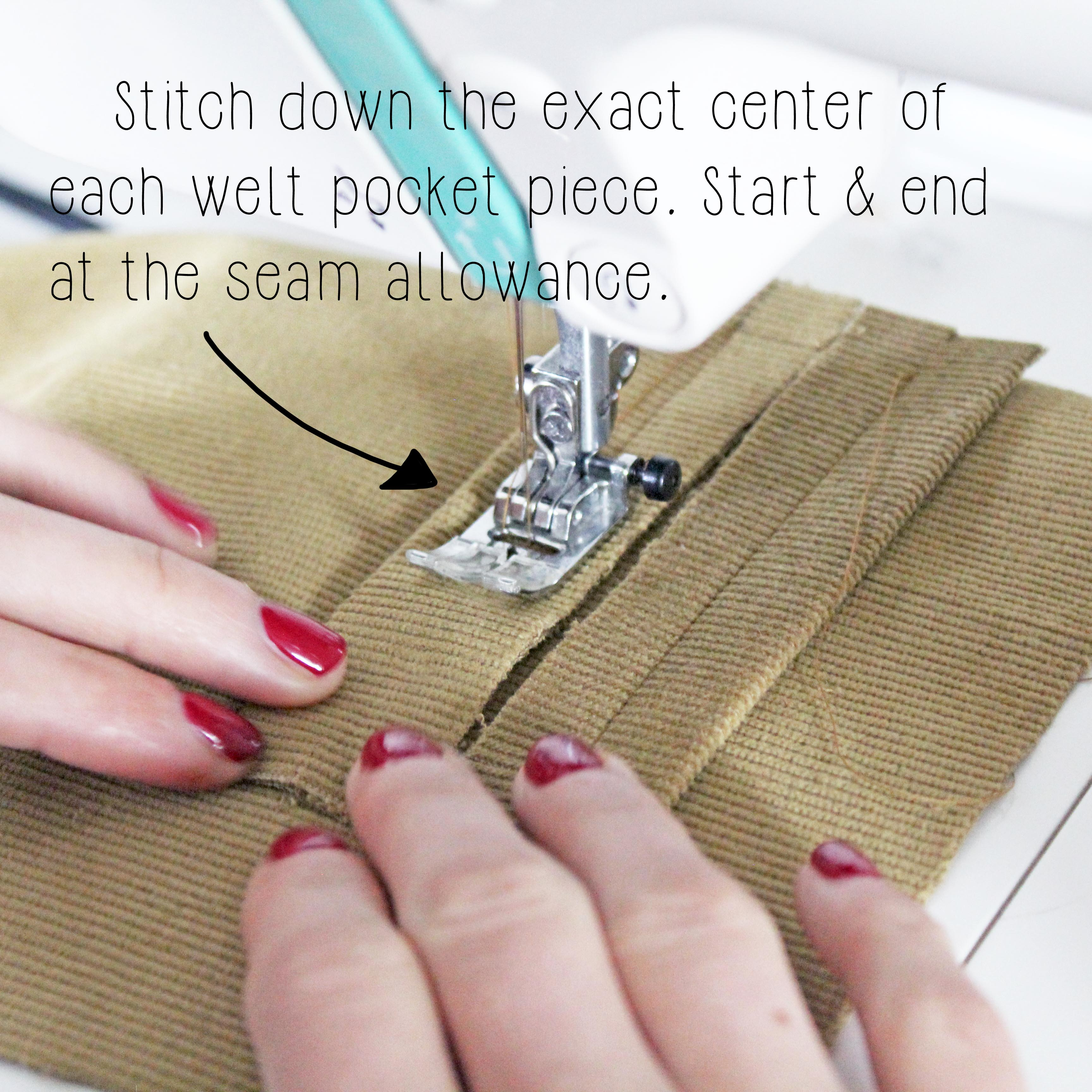 How To Sew A Double Welt Pocket Sewing Tutorial: Step 6.1
