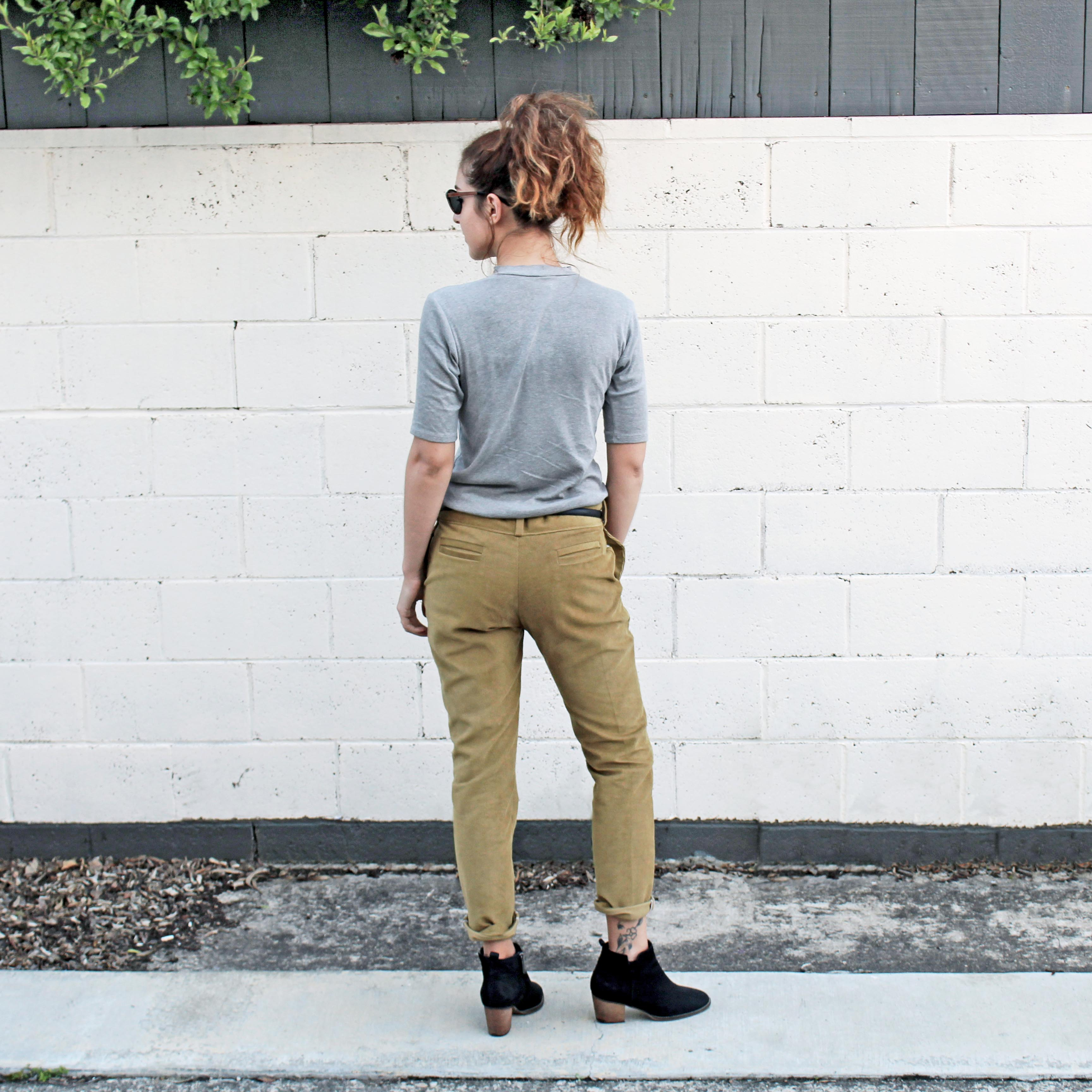 How To Sew A Double Welt Pocket Sewing Tutorial: The Stone Trouser Back View