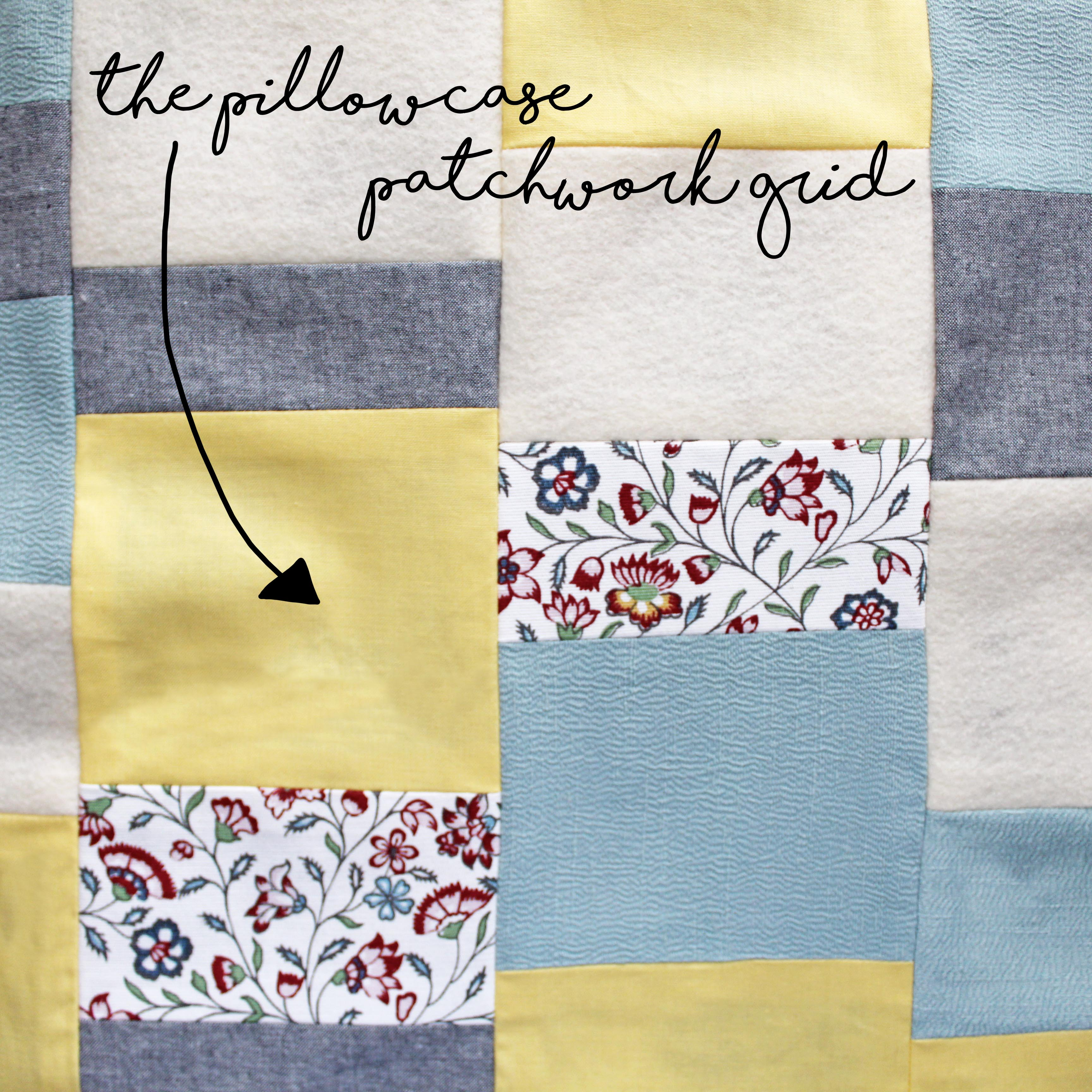How To Sew A Pillow Patchwork Grid Close Up