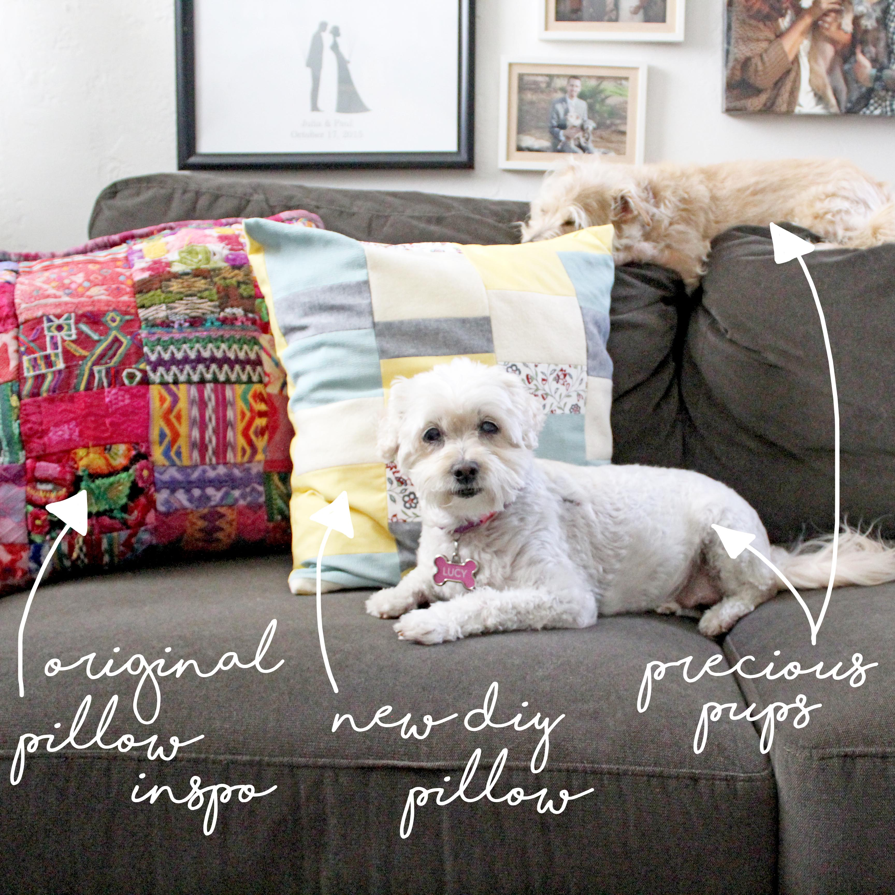 How To Sew A Pillow Pups & Pillows
