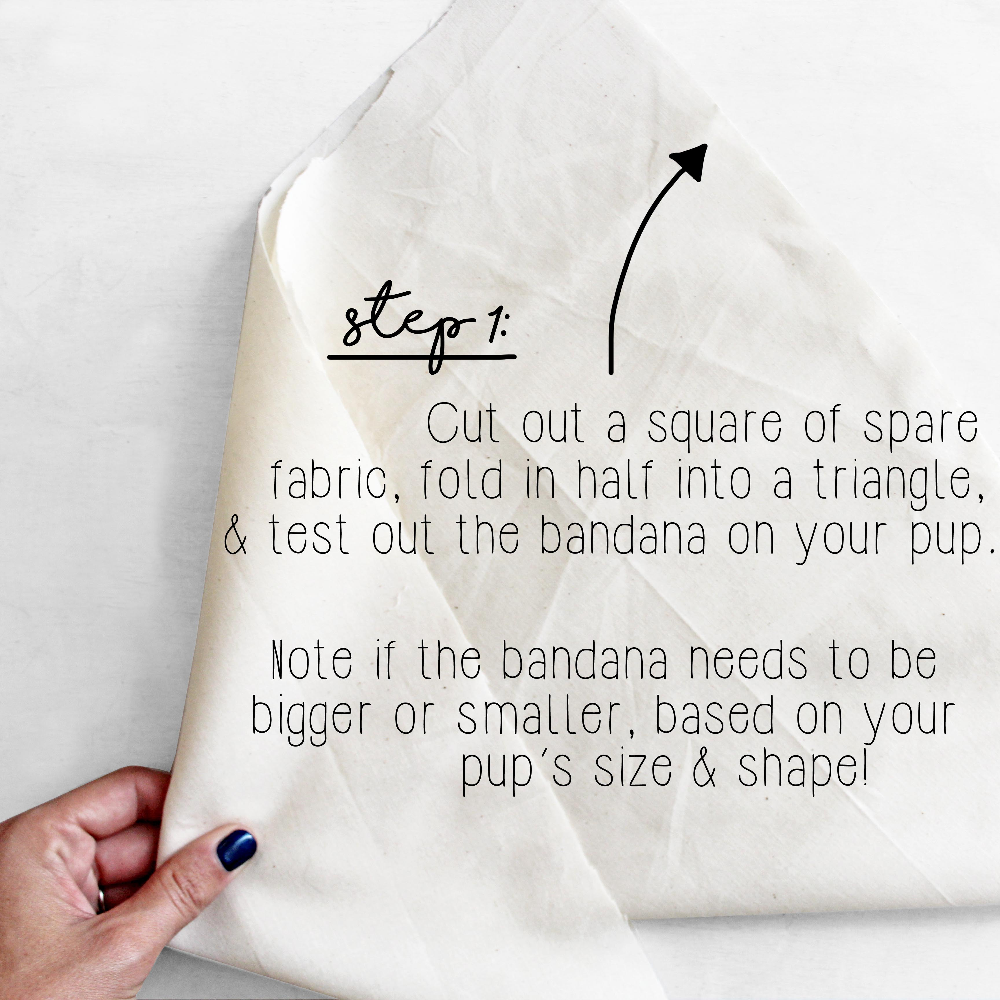 How To Sew An Easy Pet Bandana Step 1