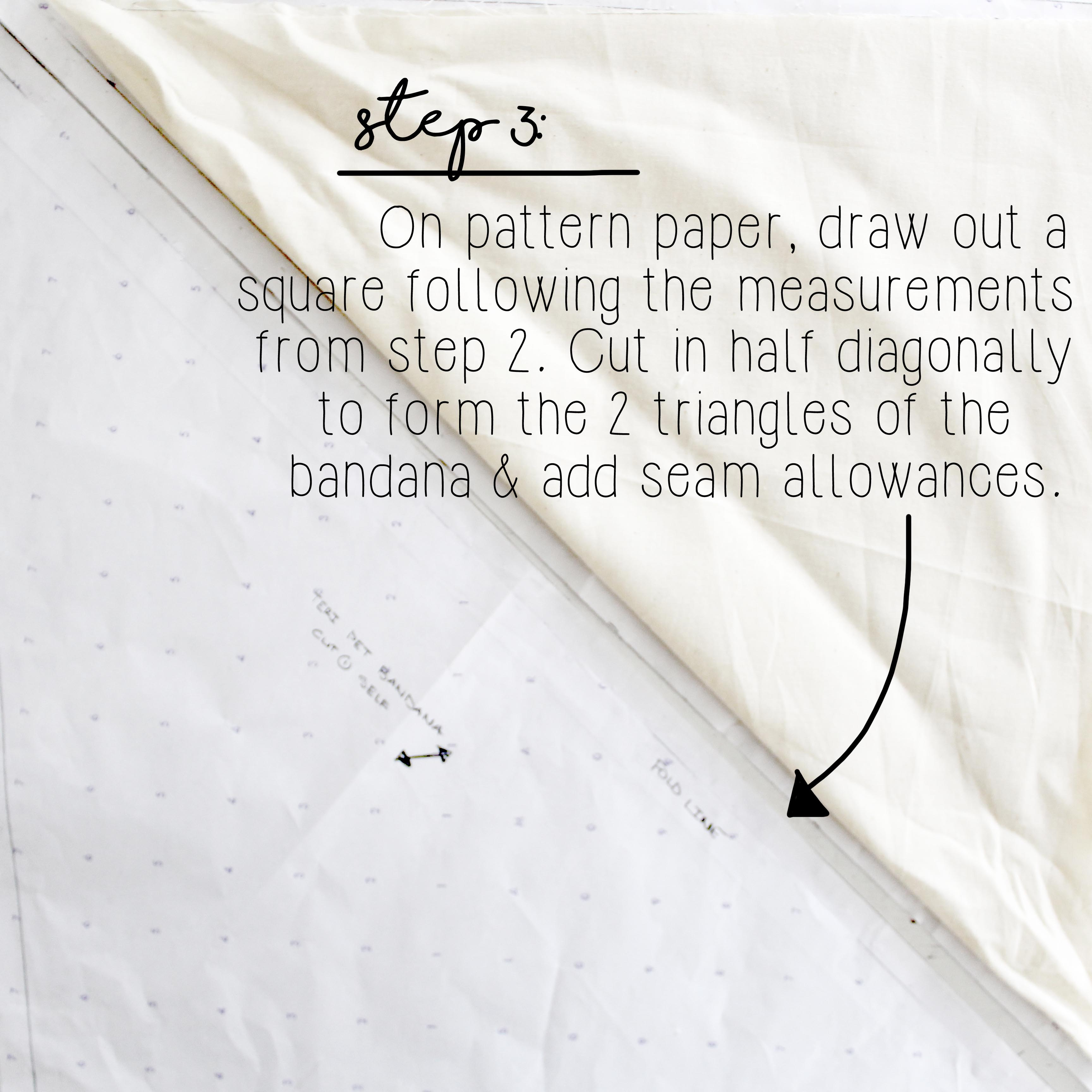 How To Sew An Easy Pet Bandana Step 3