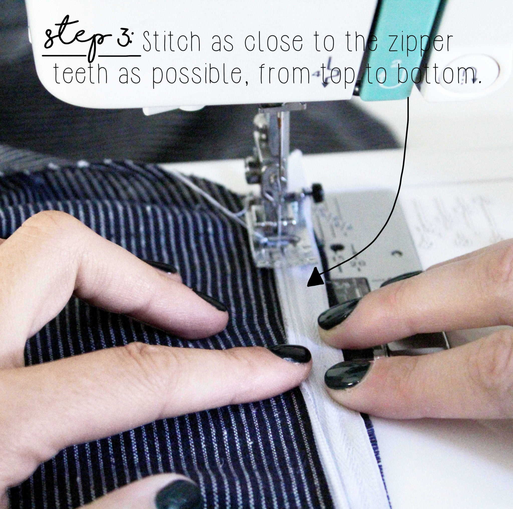 How To Sew An Invisible Zipper Sewing Tutorial: Step 3