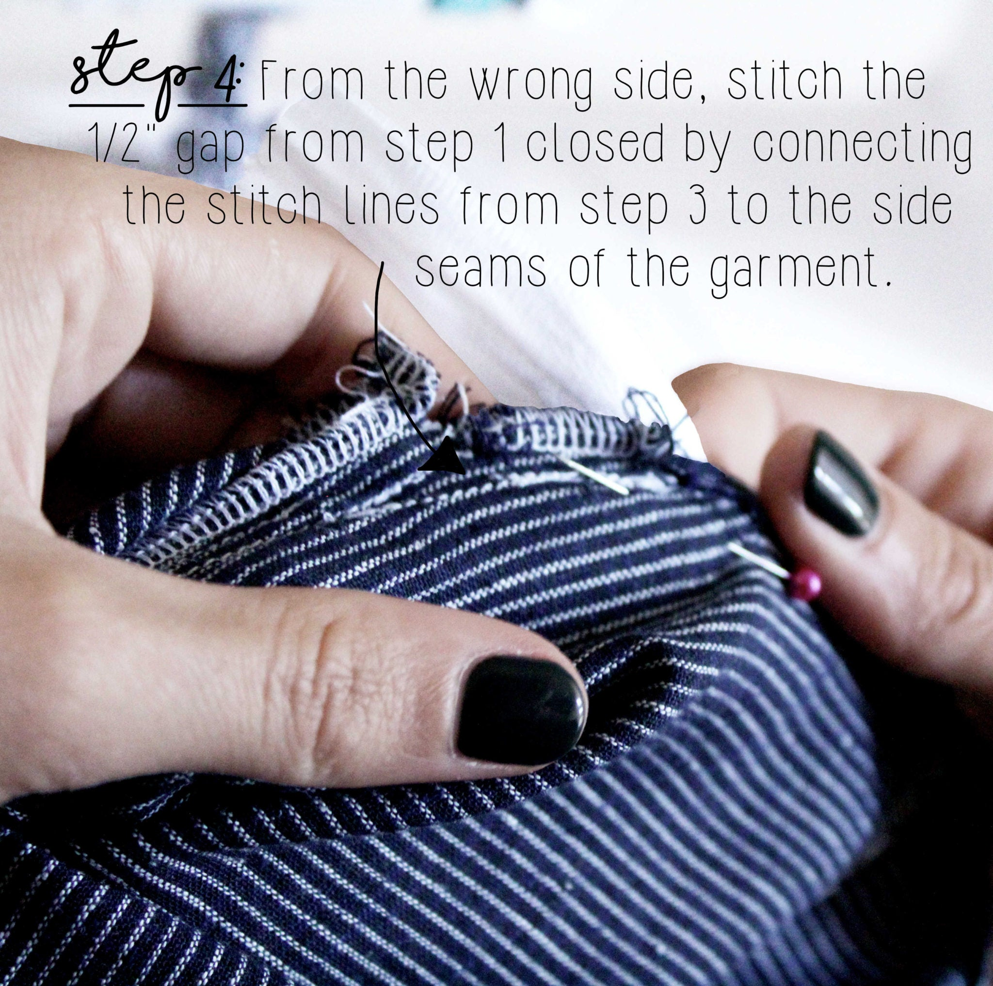 How To Sew An Invisible Zipper Sewing Tutorial: Step 4
