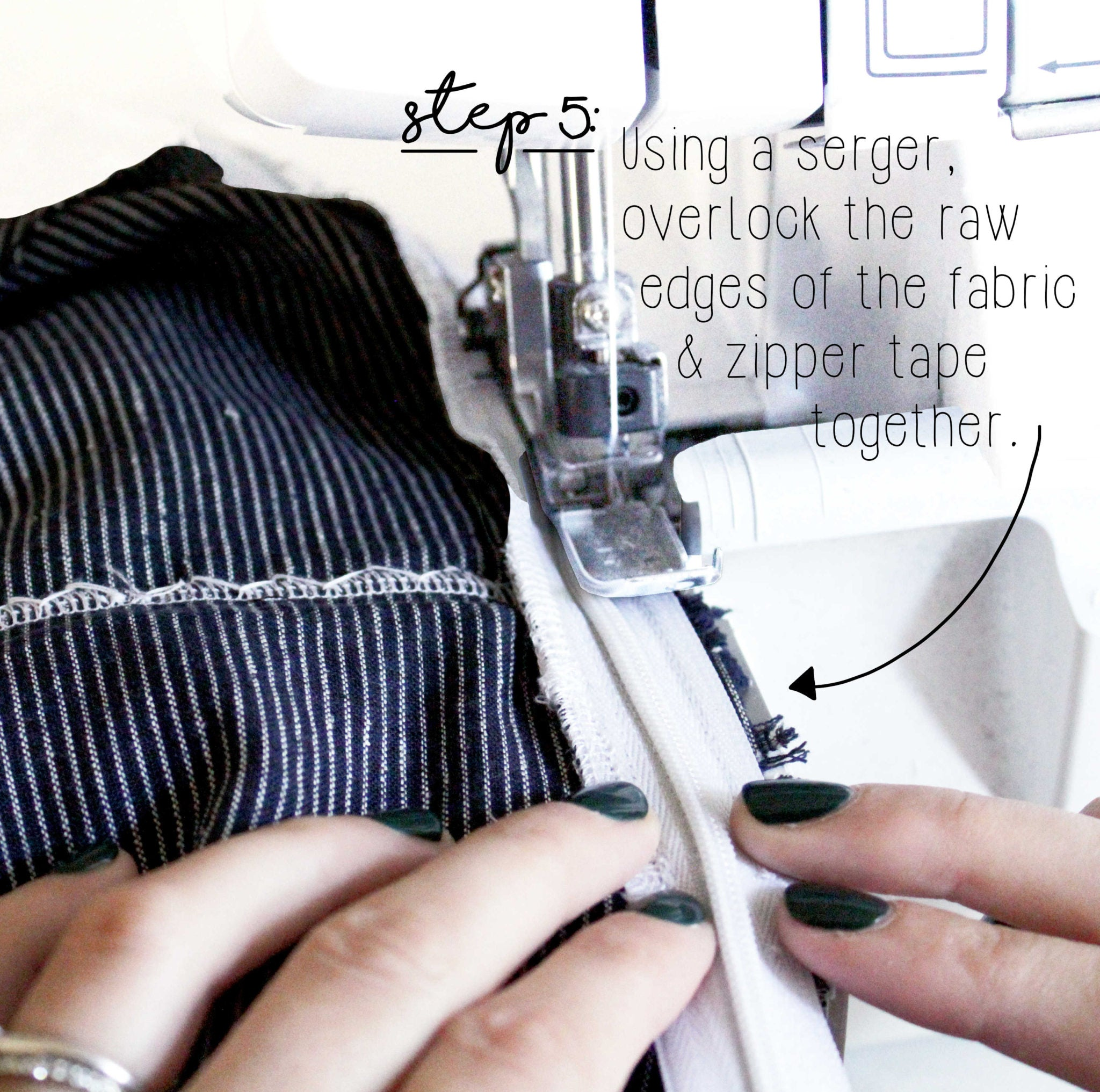 How To Sew An Invisible Zipper Sewing Tutorial: Step 5