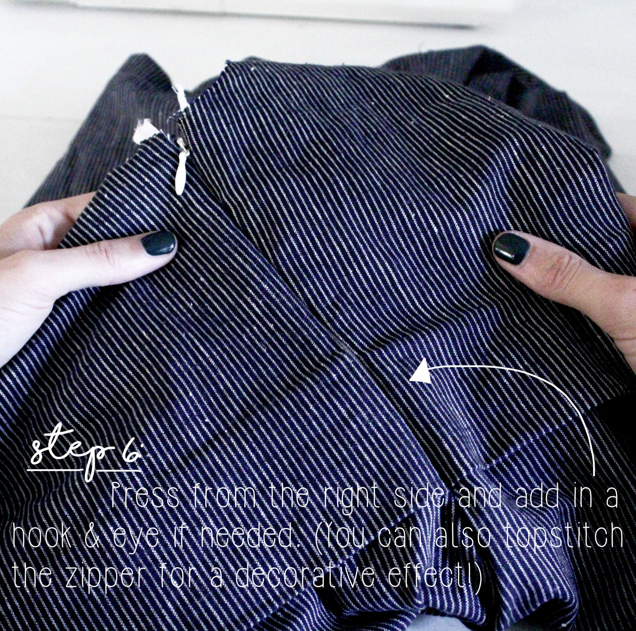 How To Sew An Invisible Zipper Sewing Tutorial: Step 6