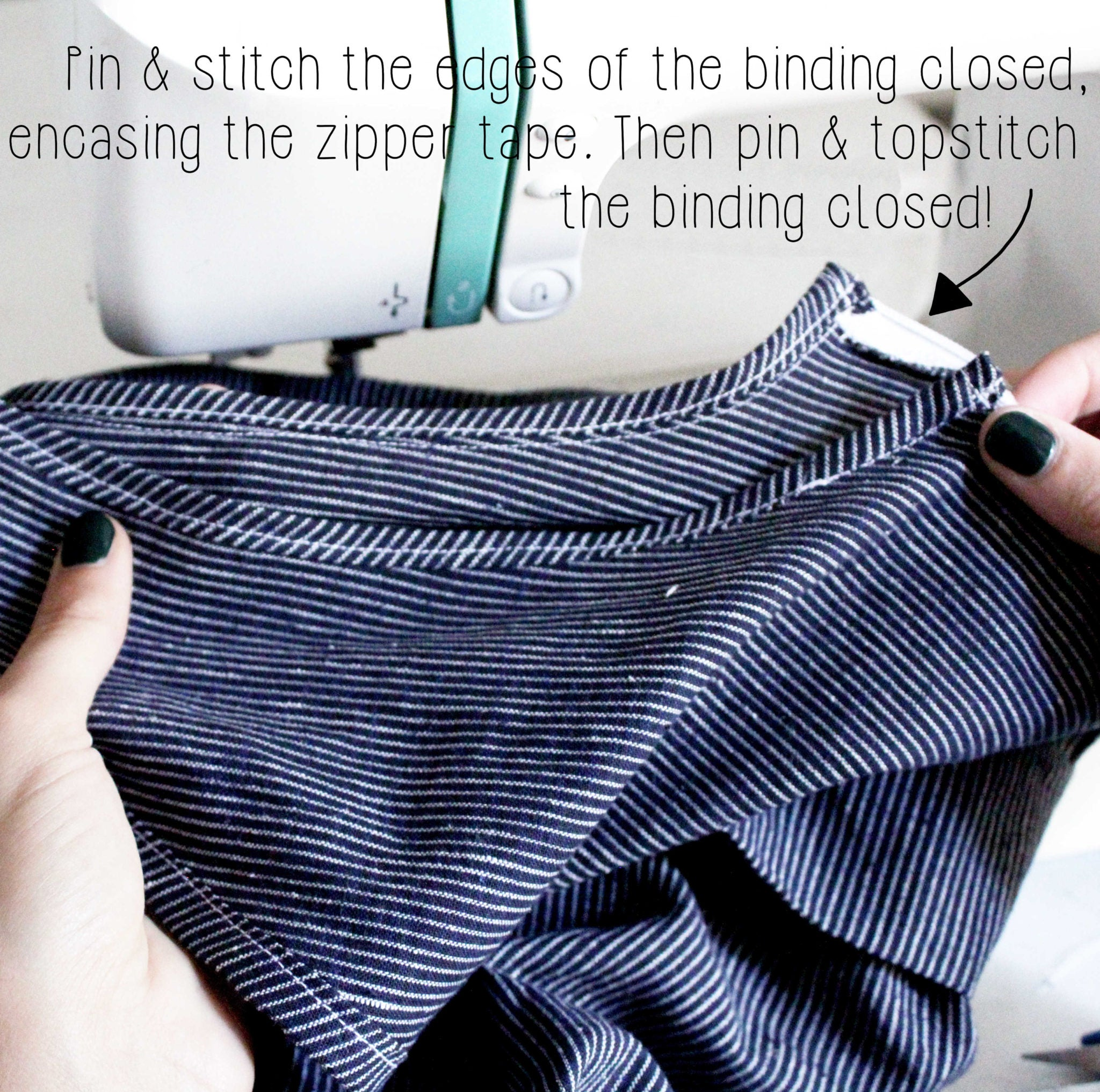 How To Sew An Invisible Zipper Sewing Tutorial: Step 7.1