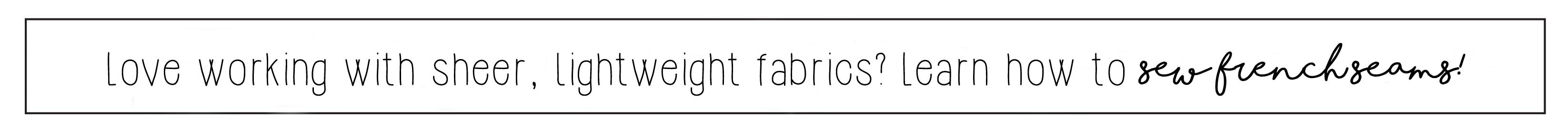 How To Sew A French Seam Sewing Tutorial