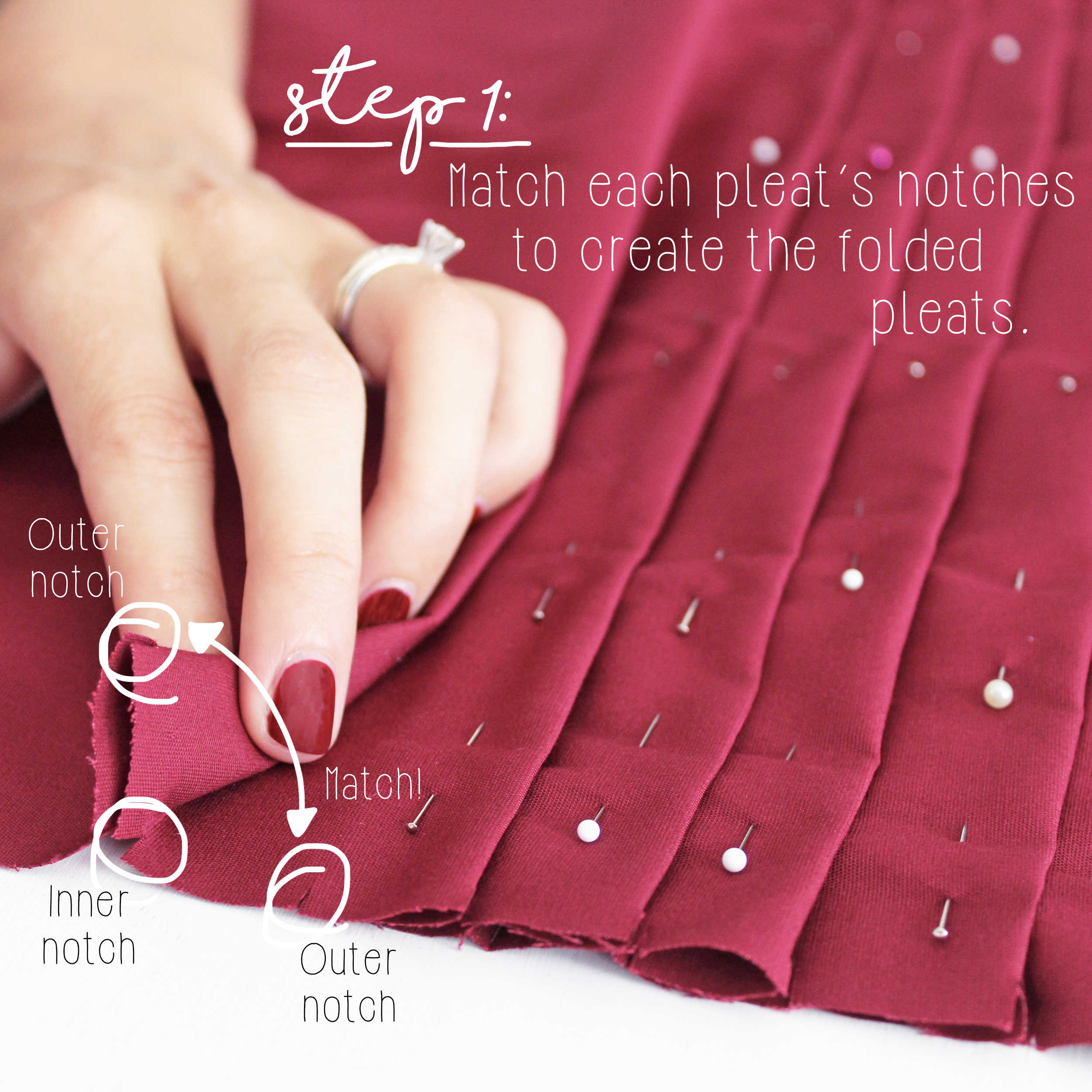 Sewing Tutorial: How To Sew Knife Pleats, Step 1