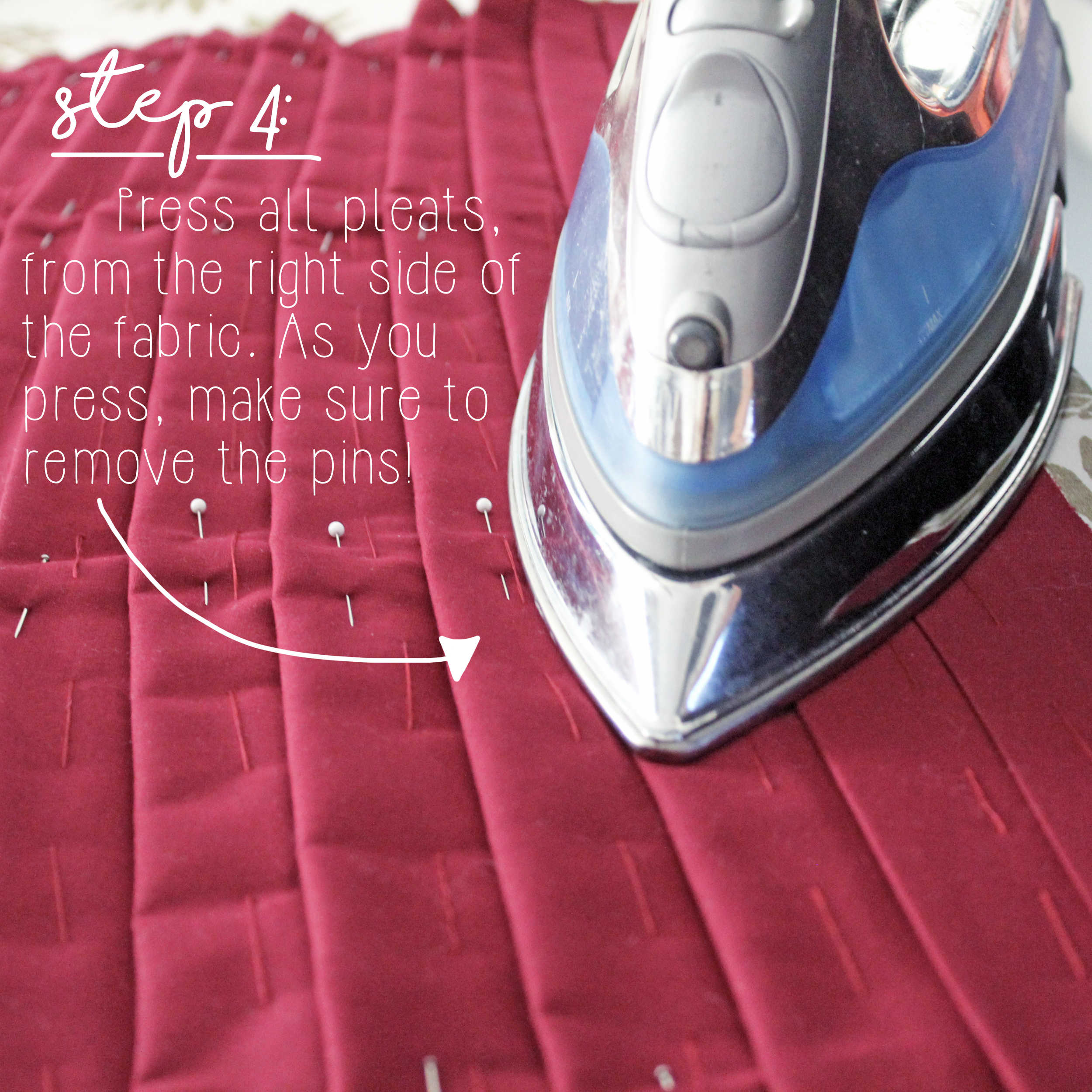 Sewing Tutorial: How To Sew Knife Pleats, Step 4