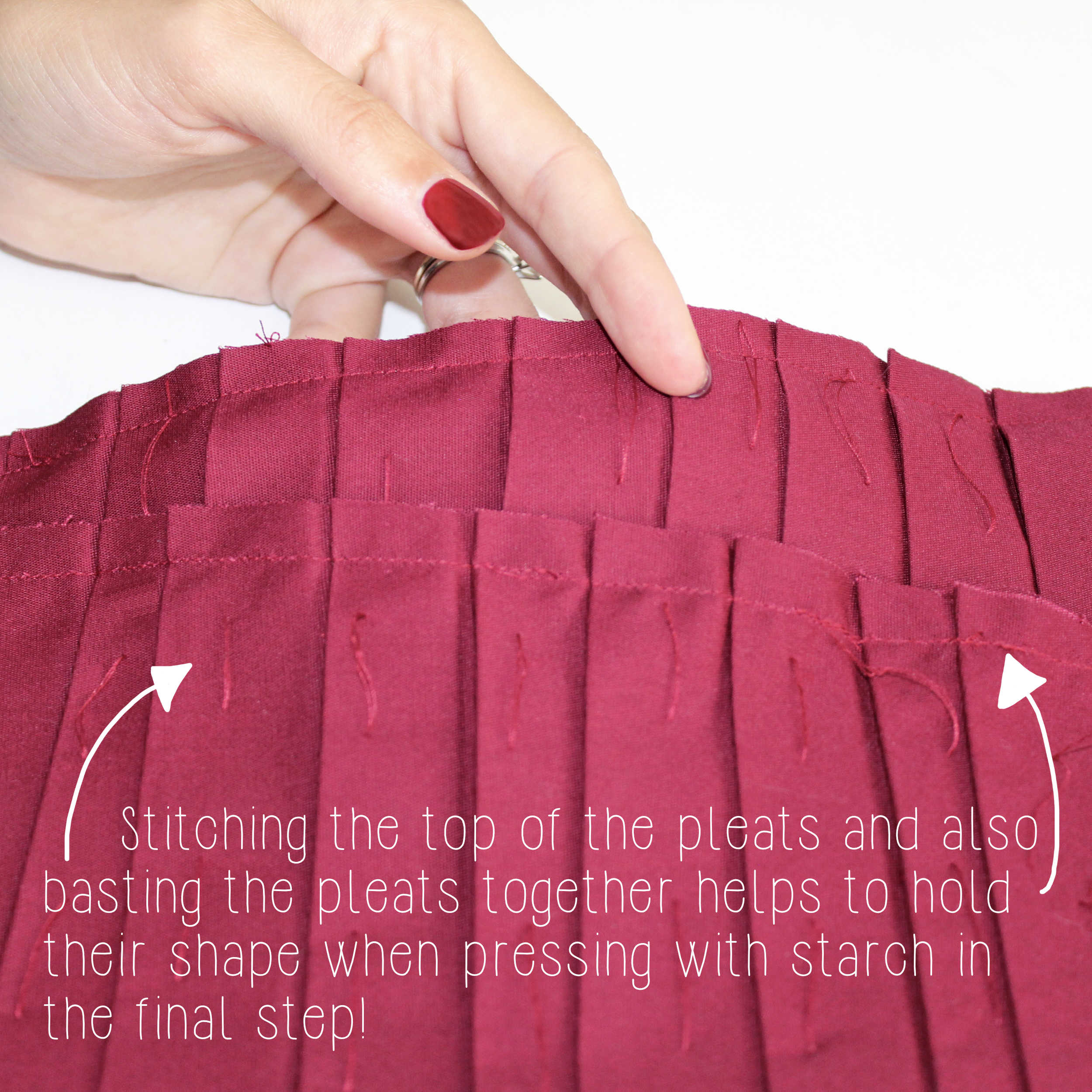 Sewing Tutorial: How To Sew Knife Pleats, Step 4.1