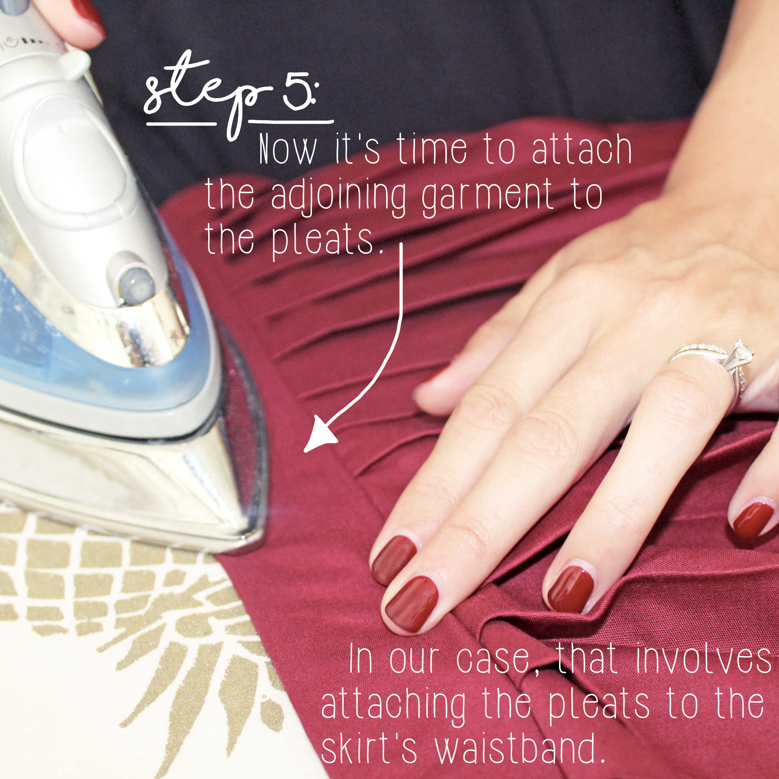 Sewing Tutorial: How To Sew Knife Pleats, Step 5