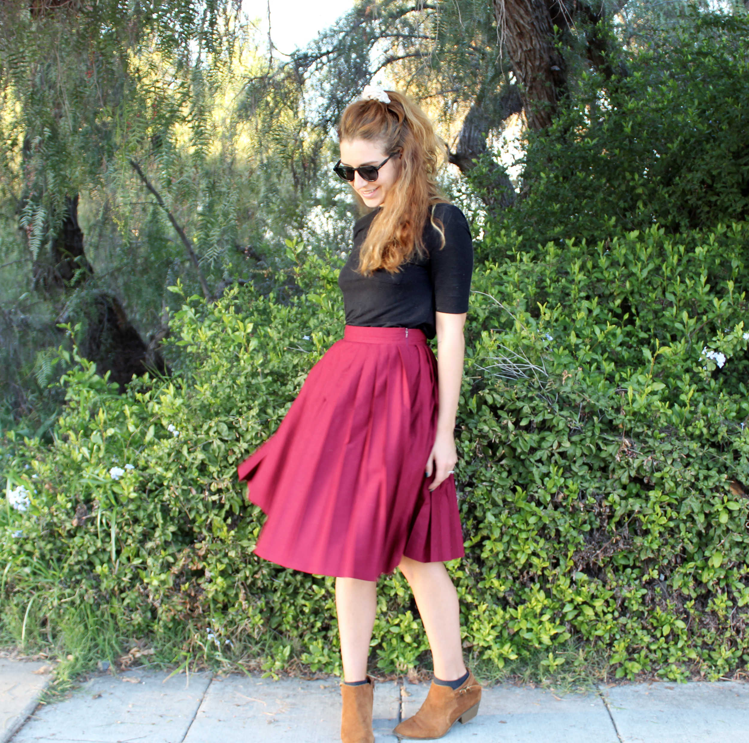 How To Sew Knife Pleats: The Emma Skirt