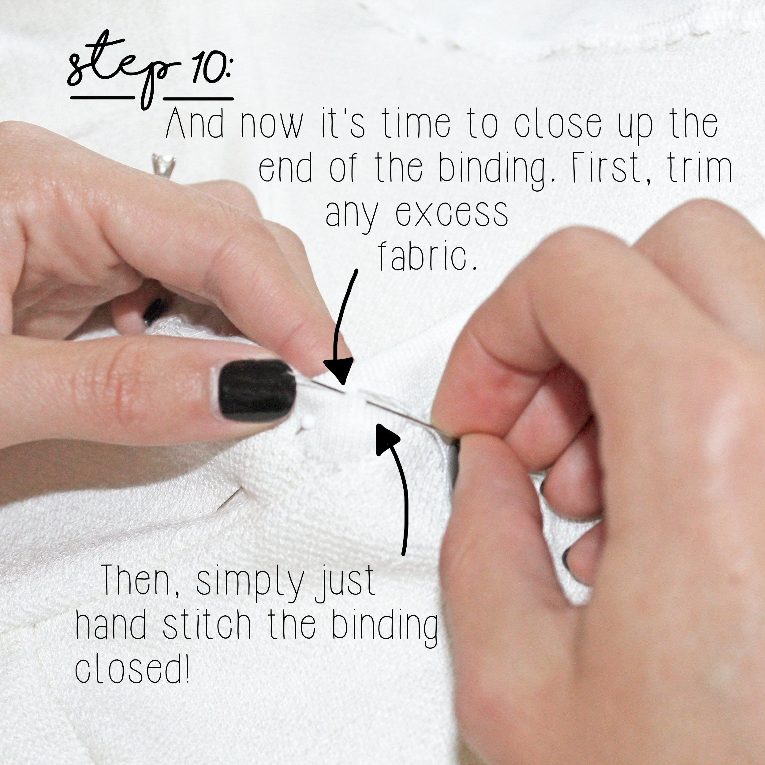 How To Sew A Knit Seam Binding Sewing Tutorial: Step 10