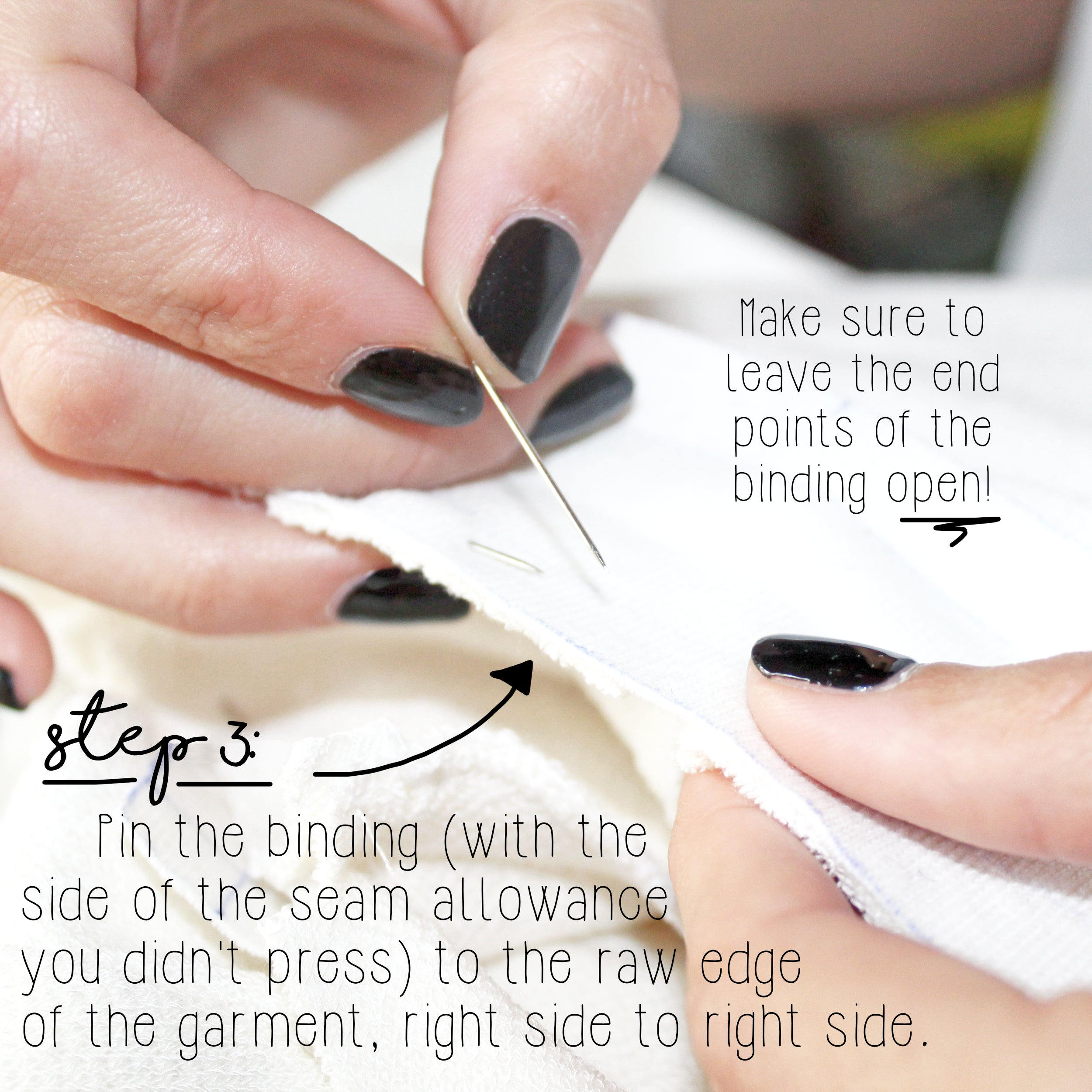 How To Sew A Knit Seam Binding Sewing Tutorial: Step 3