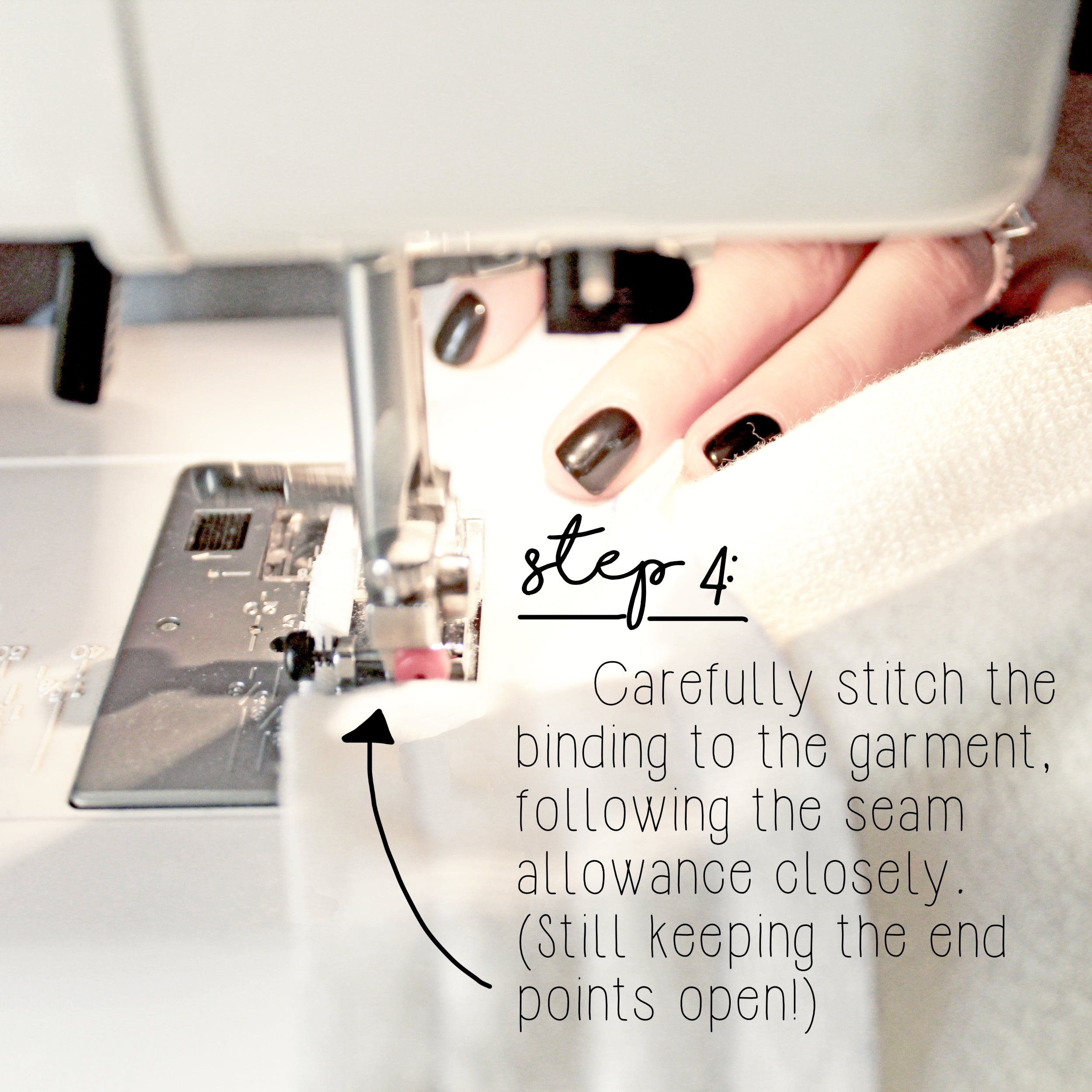 How To Sew A Knit Seam Binding Sewing Tutorial: Step 4
