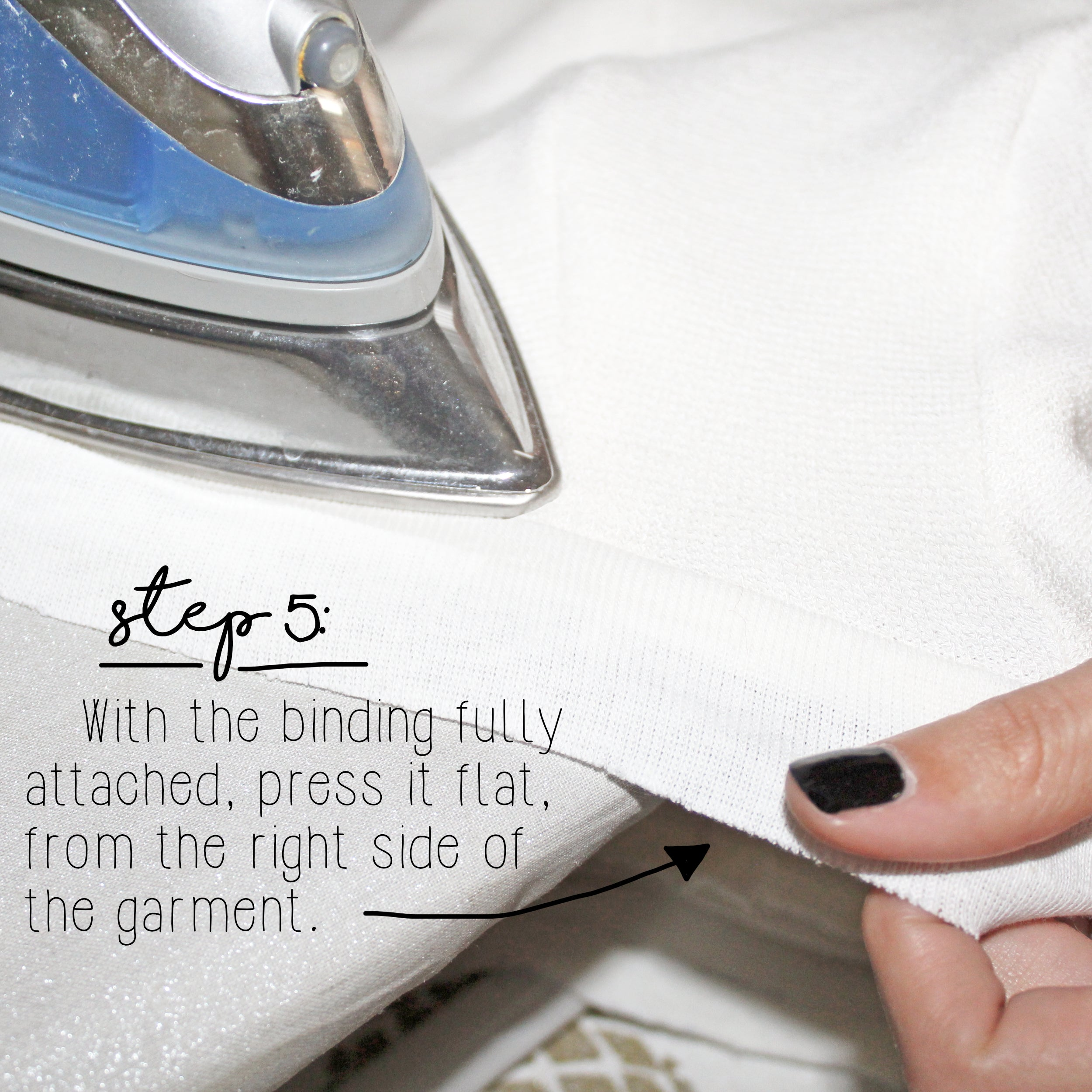 How To Sew A Knit Seam Binding Sewing Tutorial: Step 5