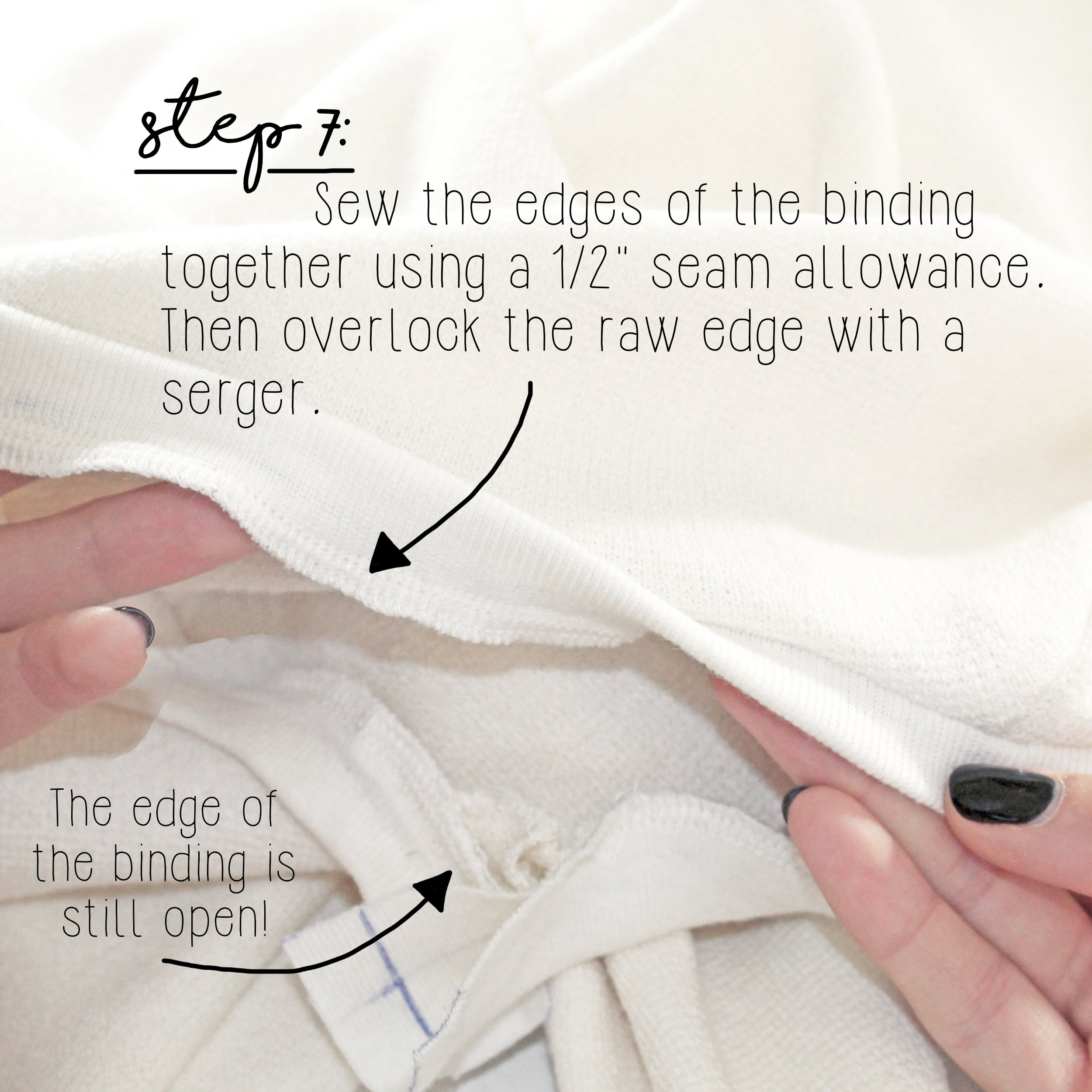 How To Sew A Knit Seam Binding Sewing Tutorial: Step 7