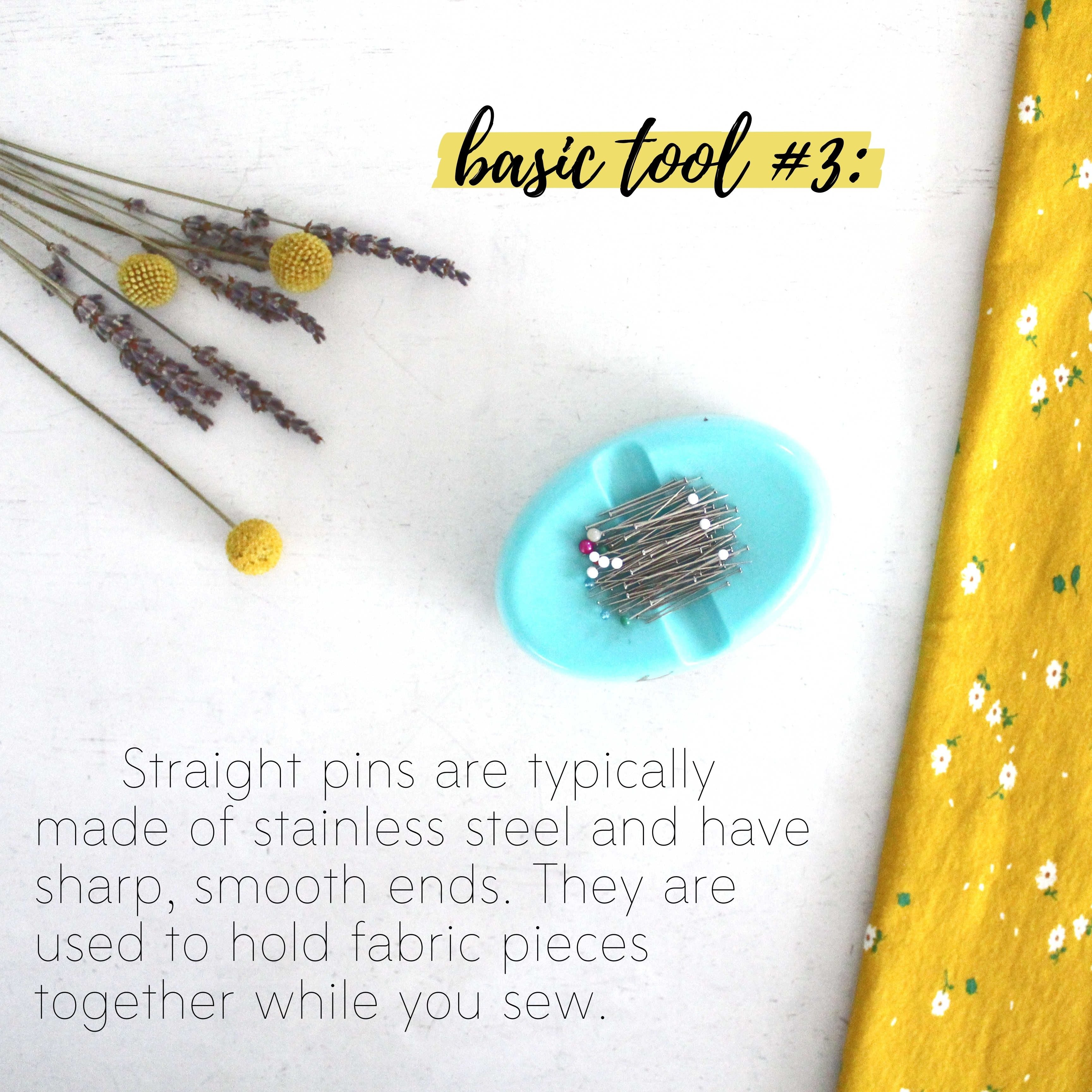 How To Build A Sewing Kit: Basic Tool #3, Straight Pins
