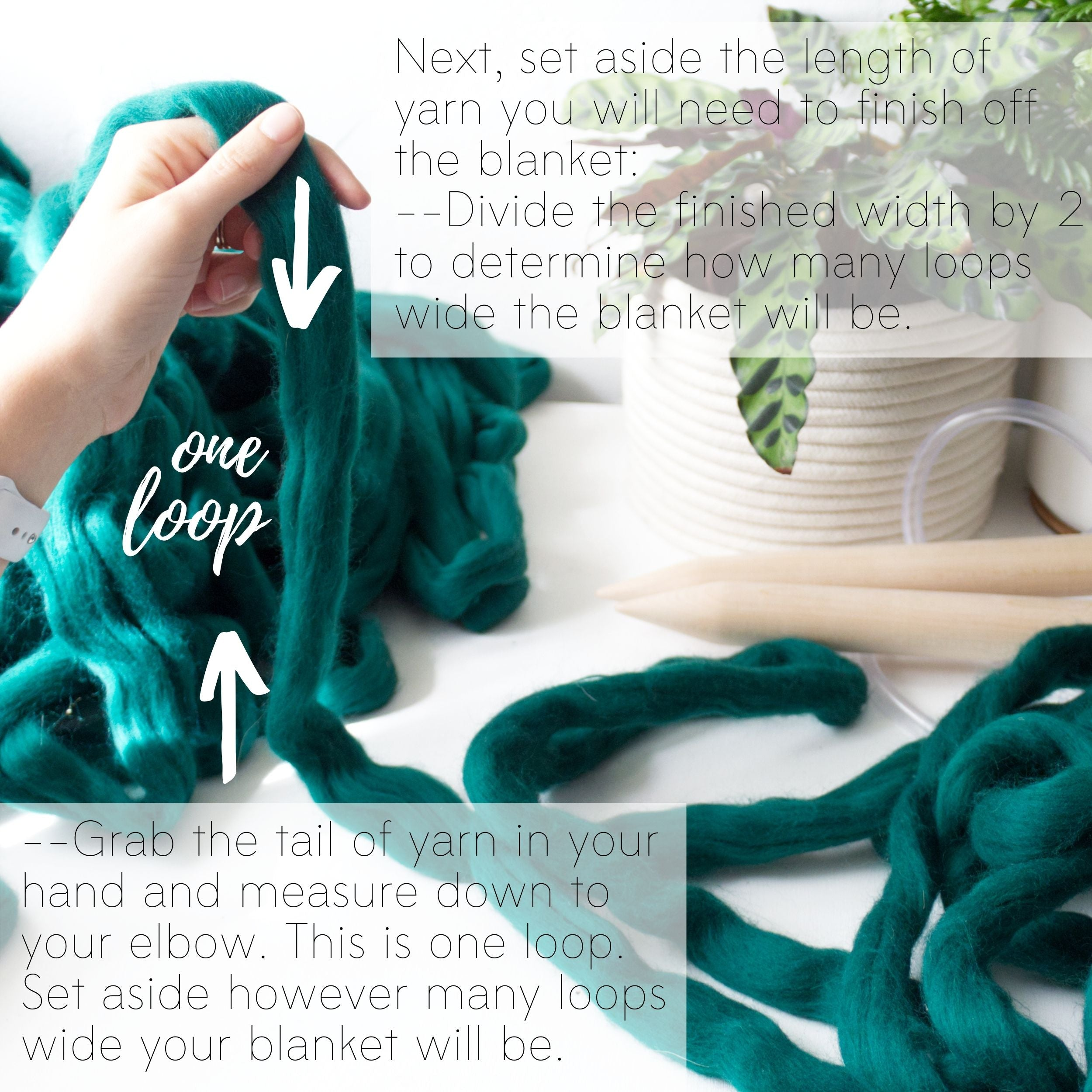 How to make a DIY chunky knit blanket, step 1.1
