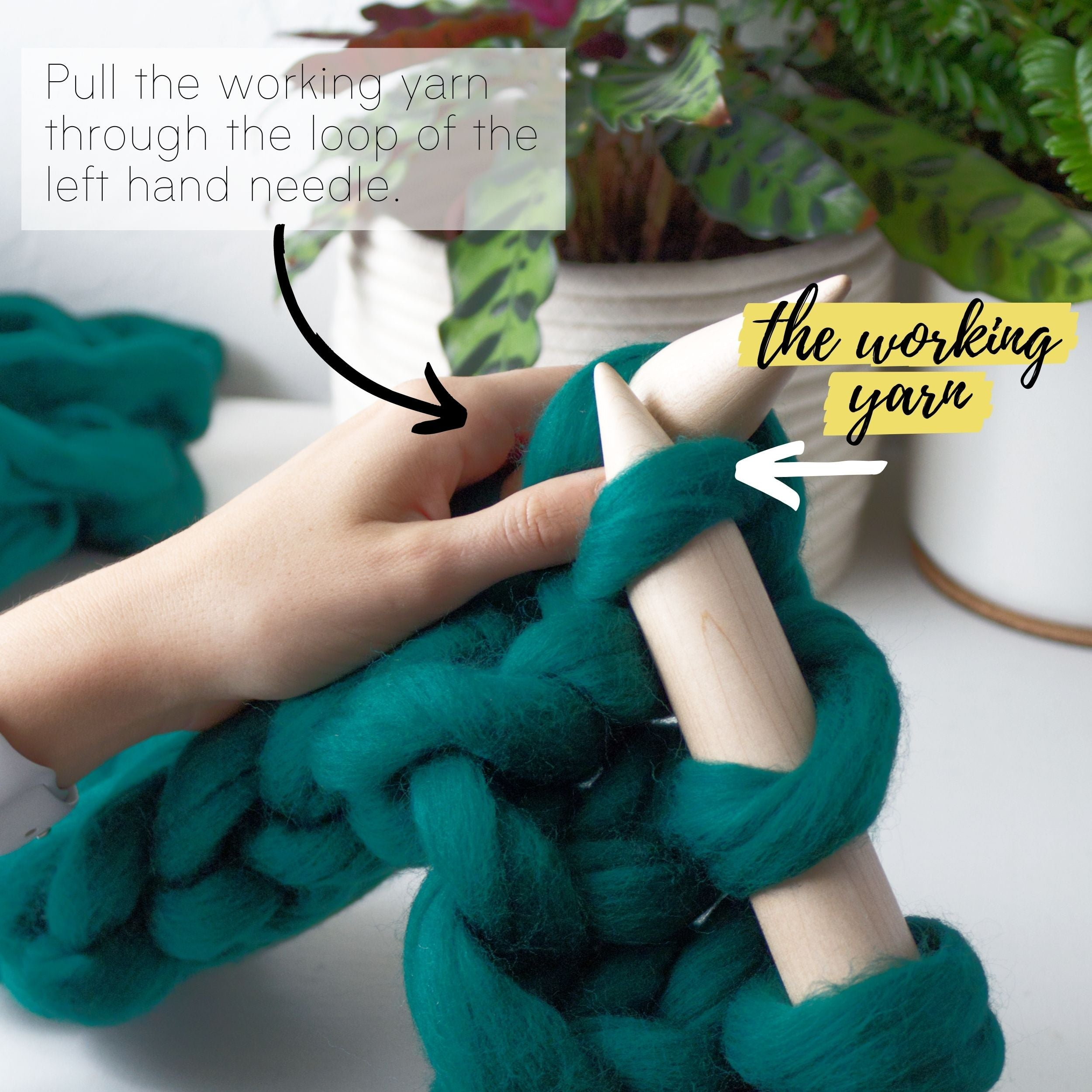 How to make a DIY chunky knit blanket, step 5.3