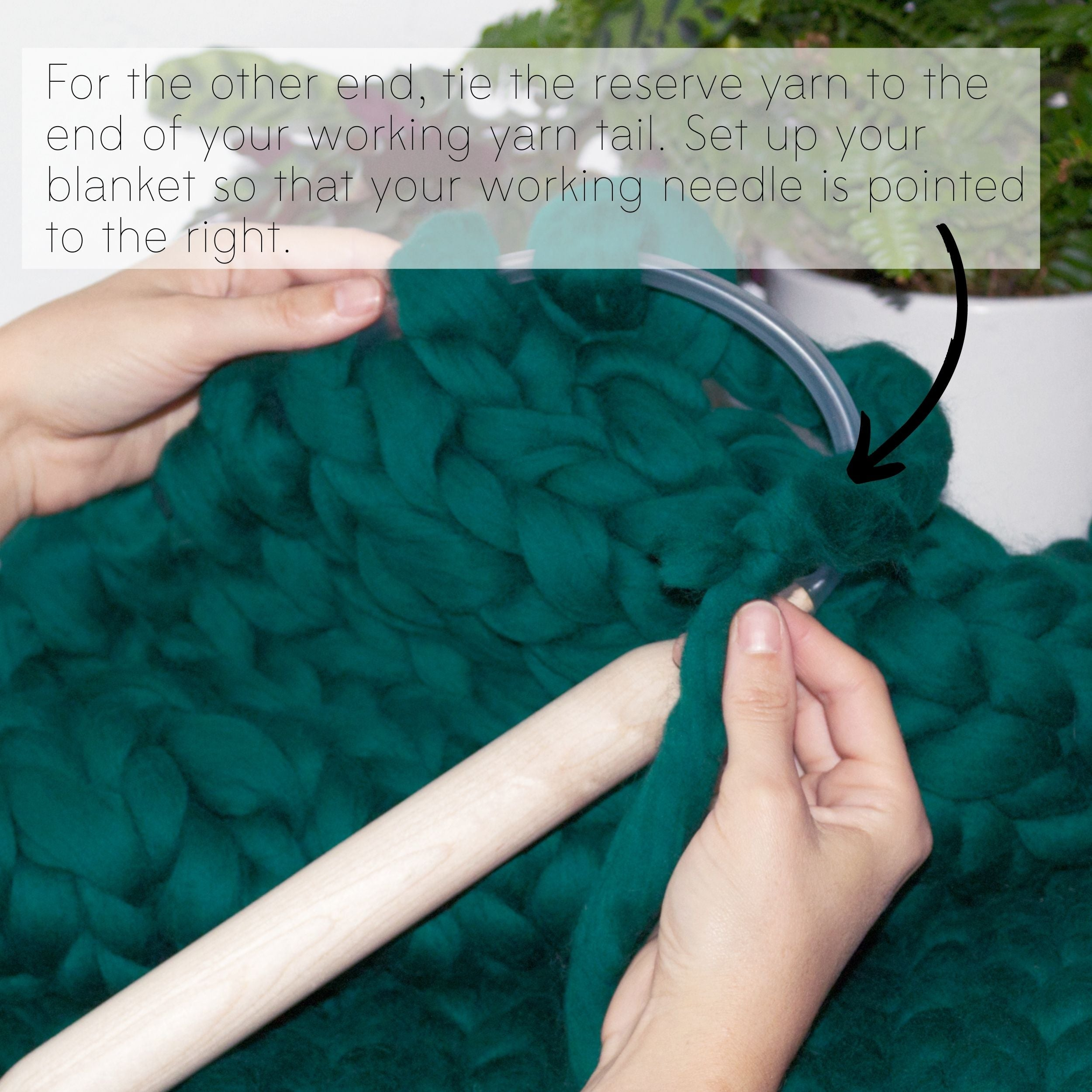 How to make a DIY chunky knit blanket, step 6.2