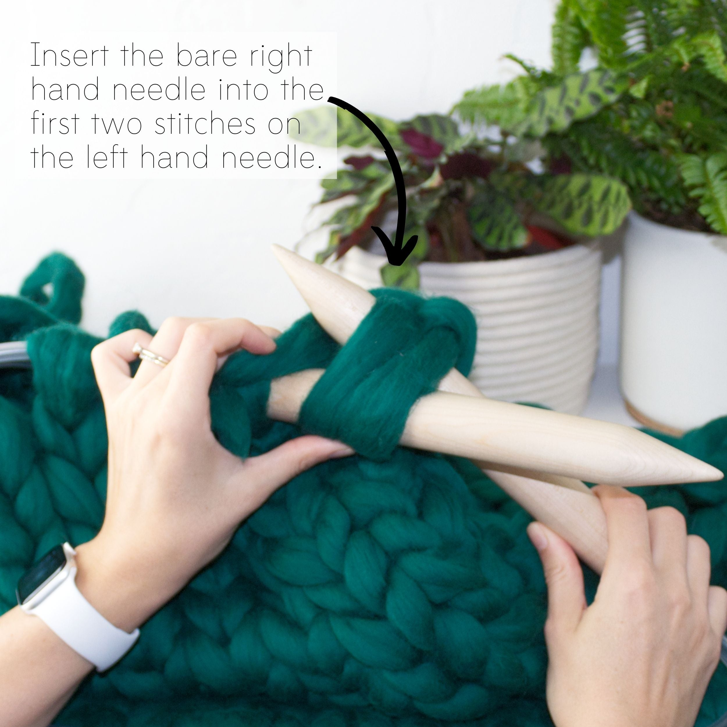 How to make a DIY chunky knit blanket, step 6.3