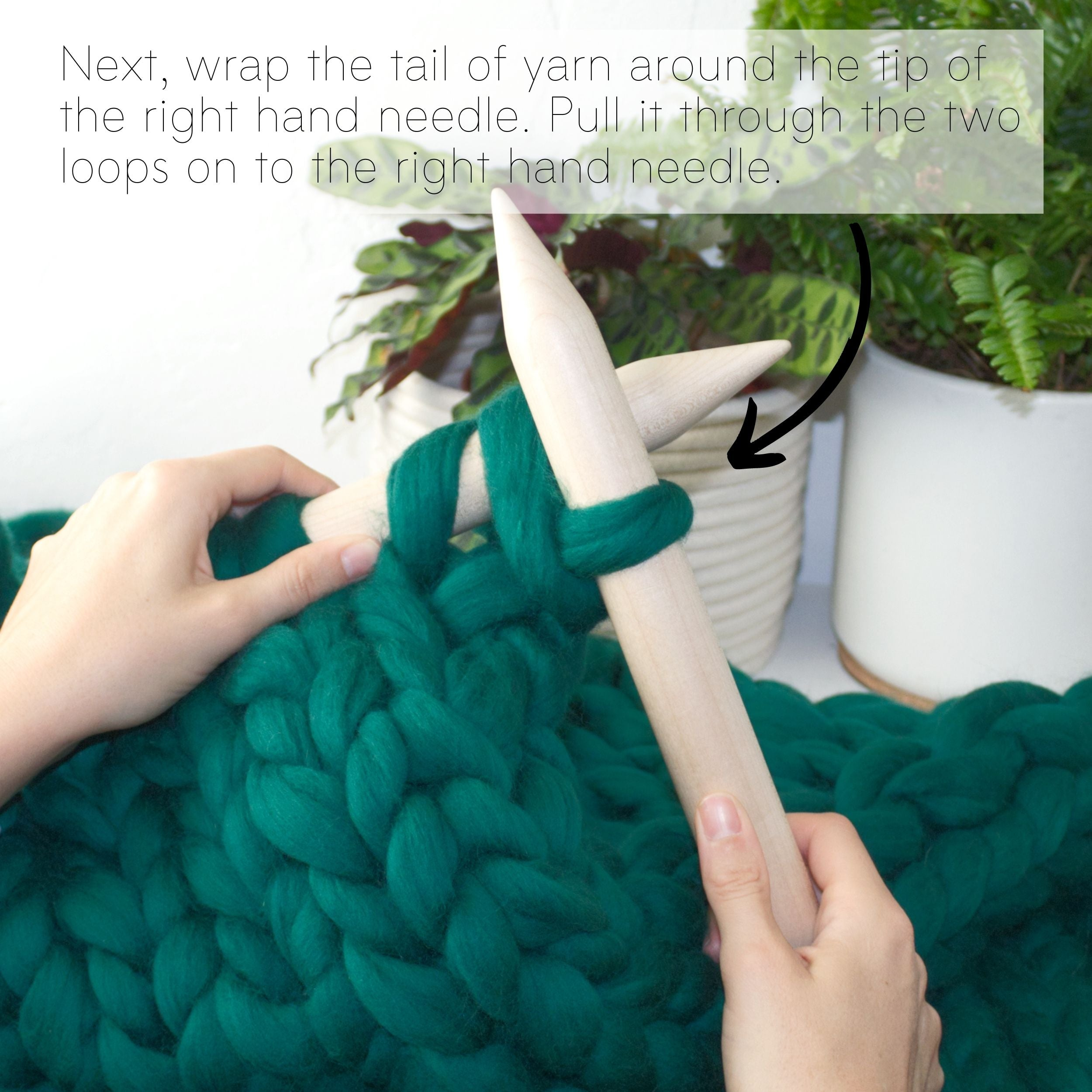 How to make a DIY chunky knit blanket, step 6.4