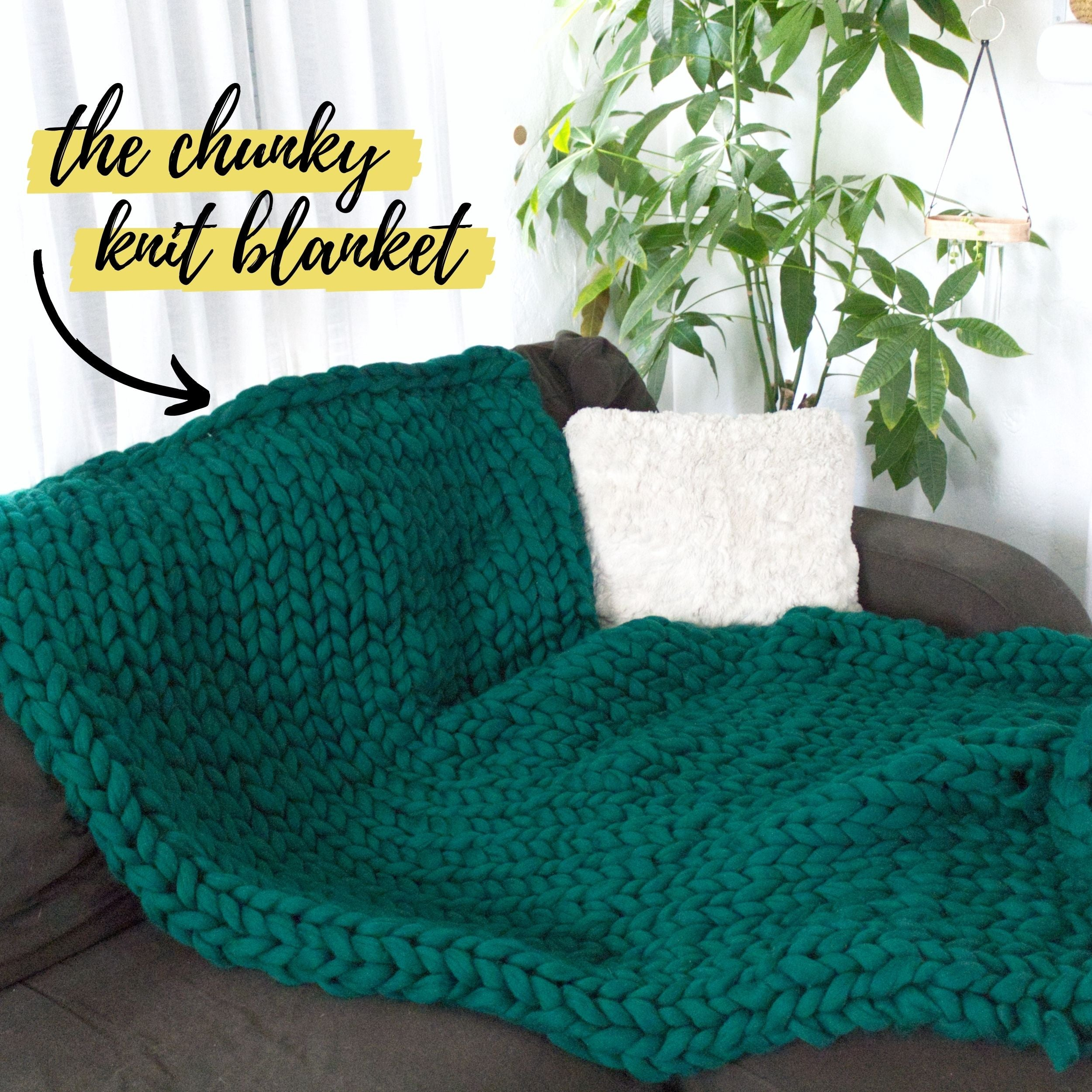 The DIY chunky knit blanket