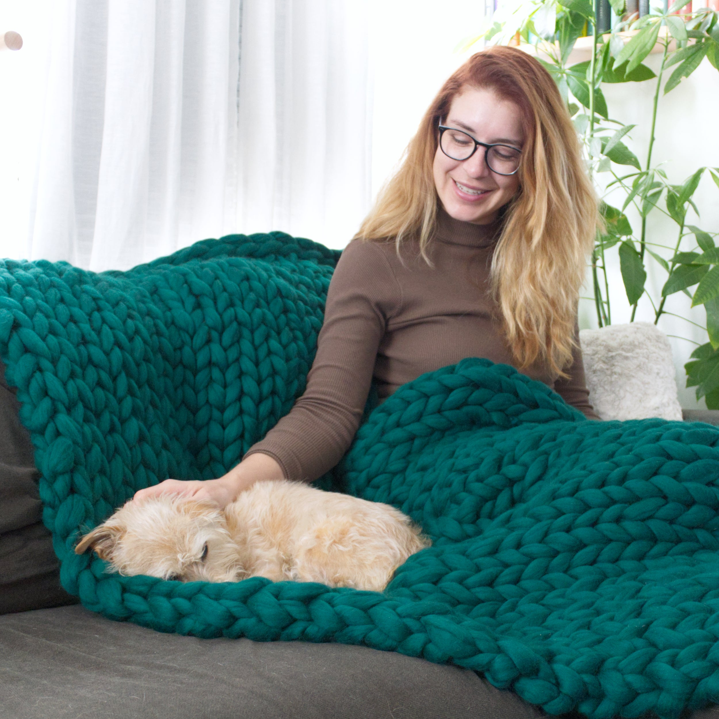 A few tips on how to make a DIY chunky knit blanket