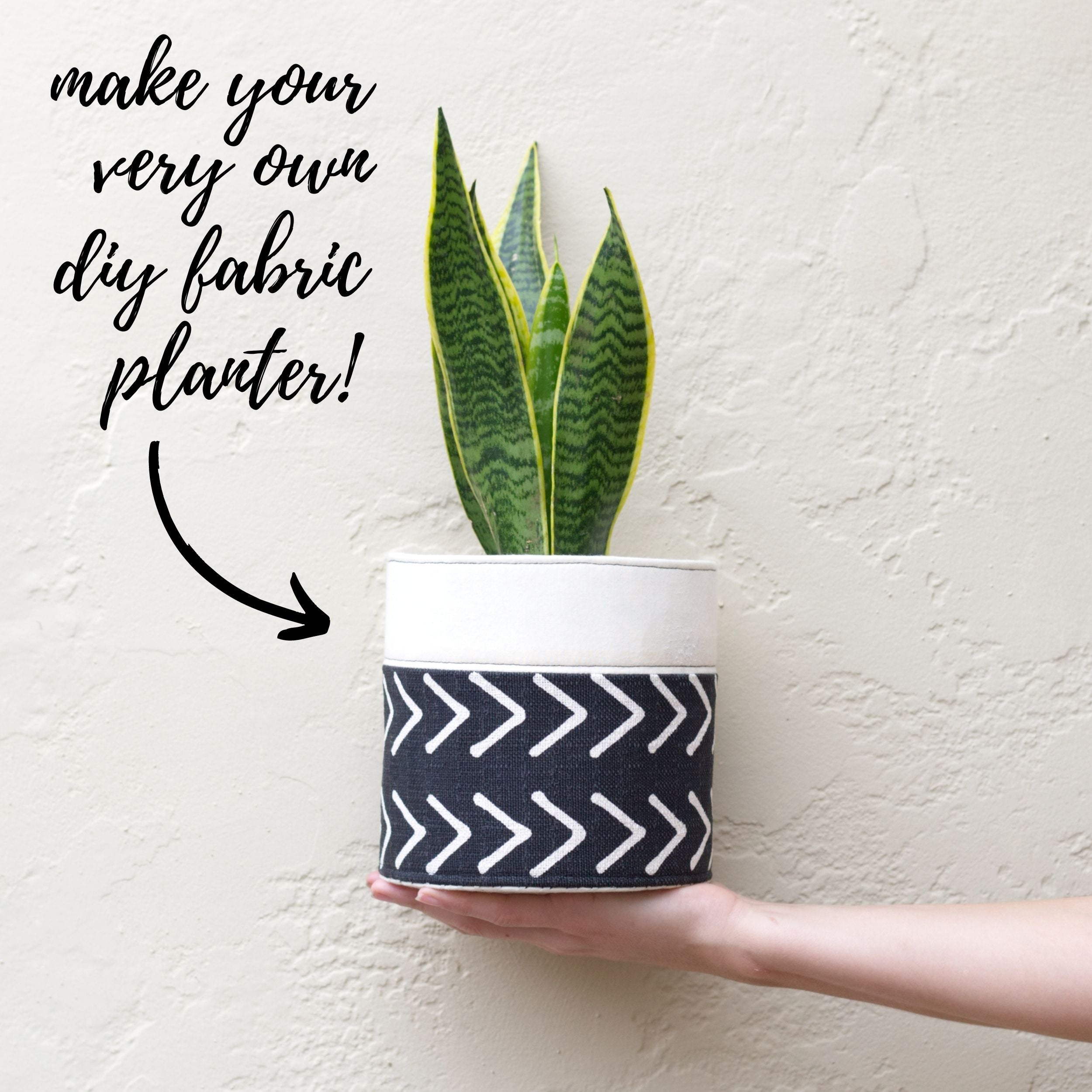 How to make a DIY fabric planter completed sewing project