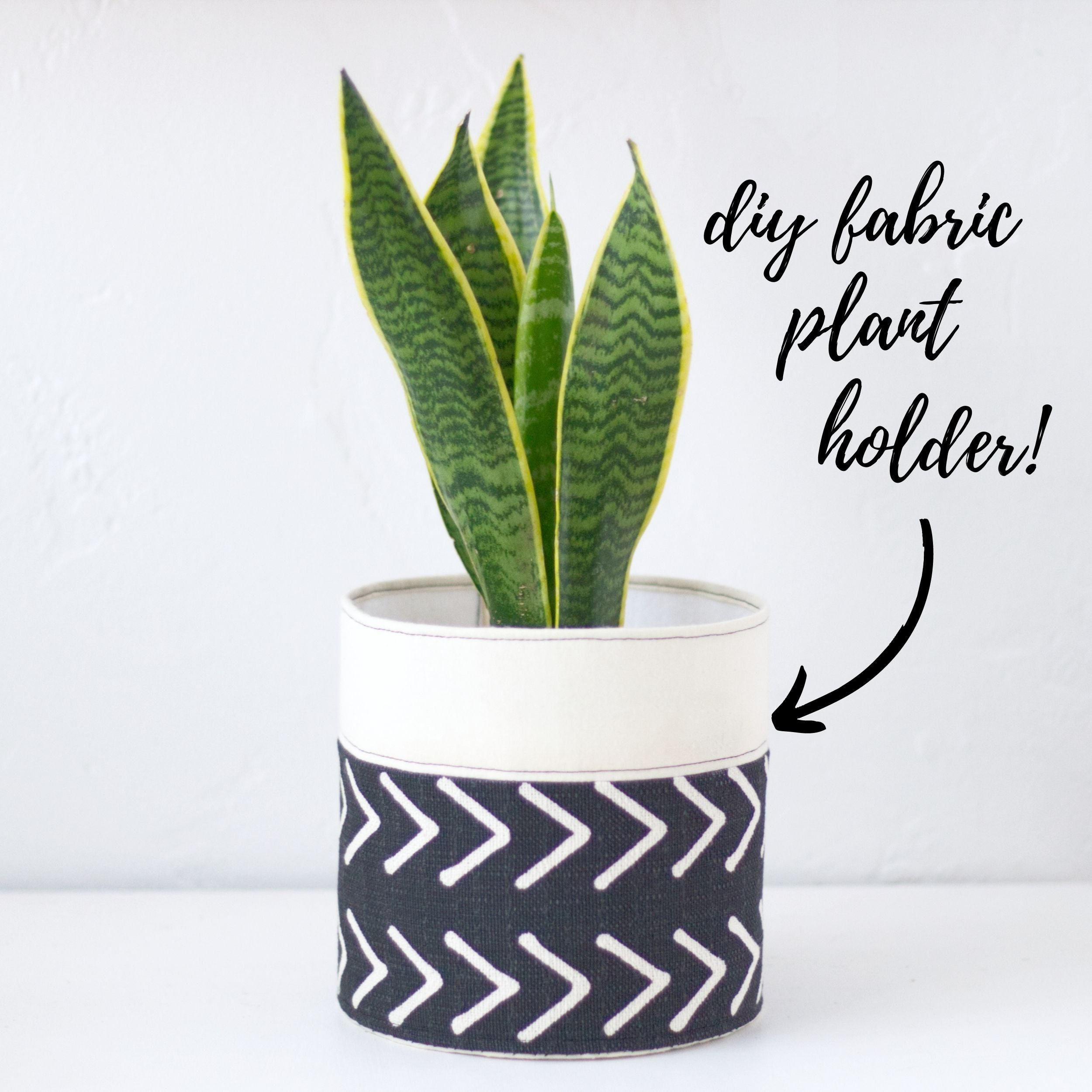 Learn how to make a DIY fabric plant holder