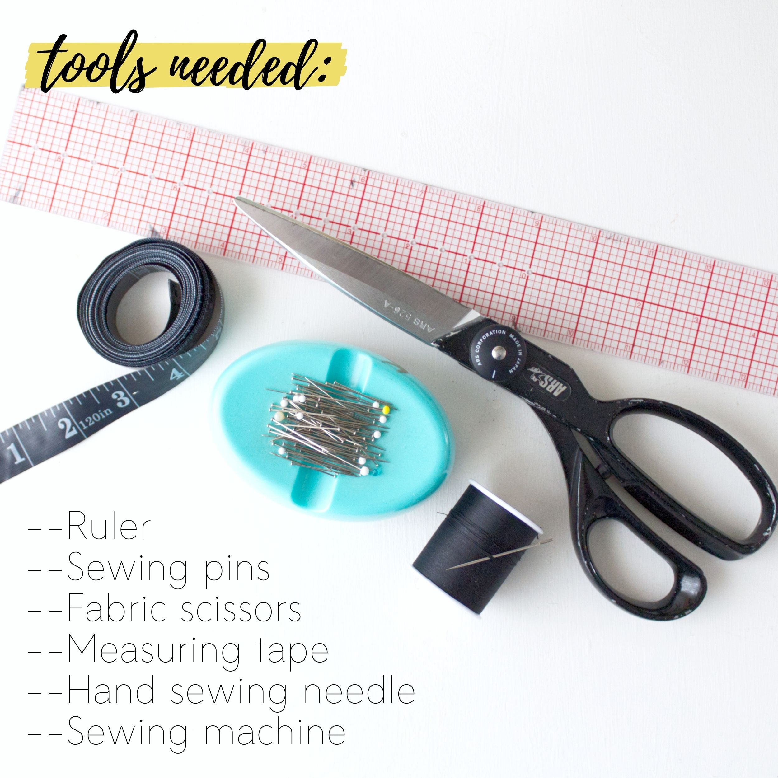 How to make a DIY fabric planter: Tools needed