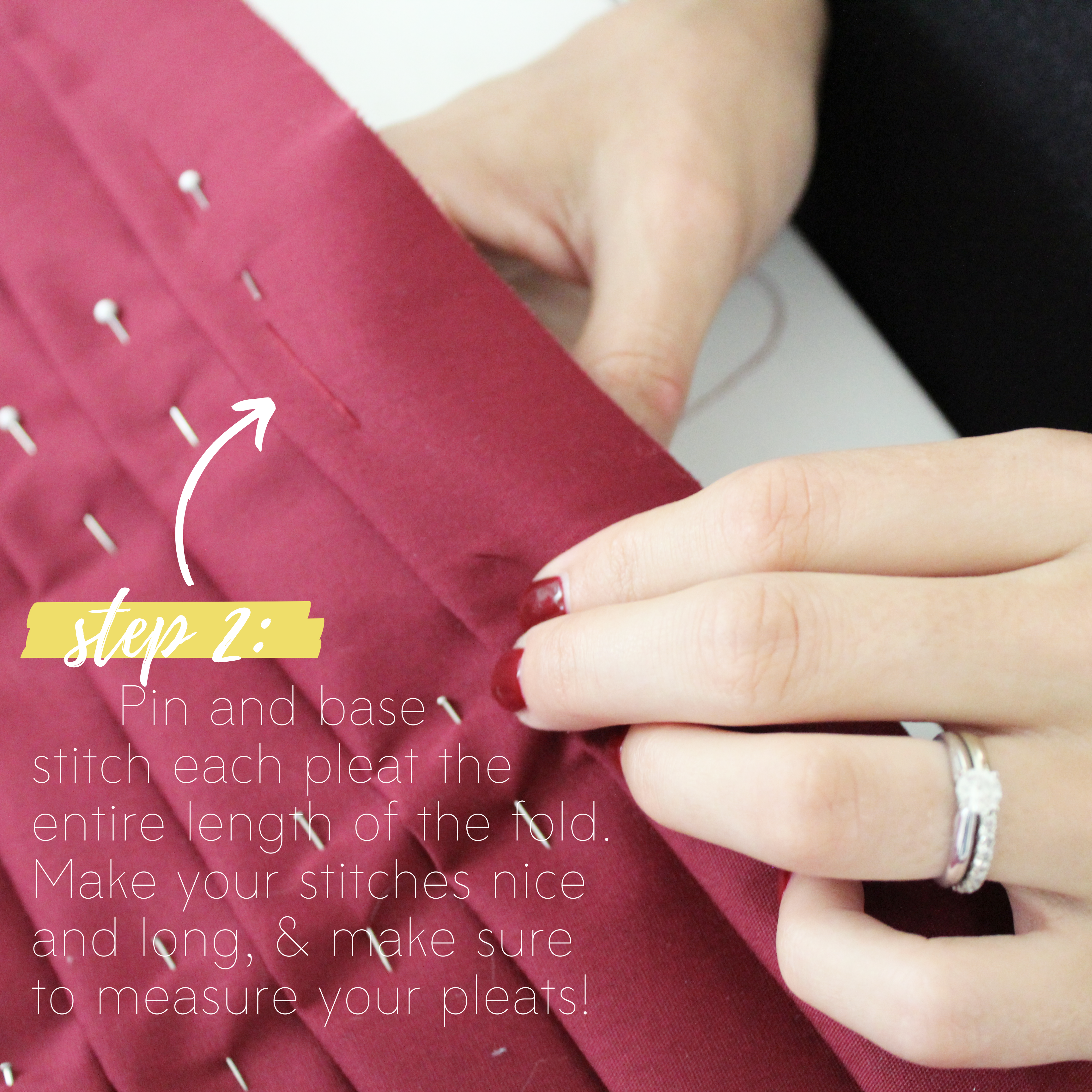 Sewing Tutorial: How To Sew Knife Pleats, Step 2