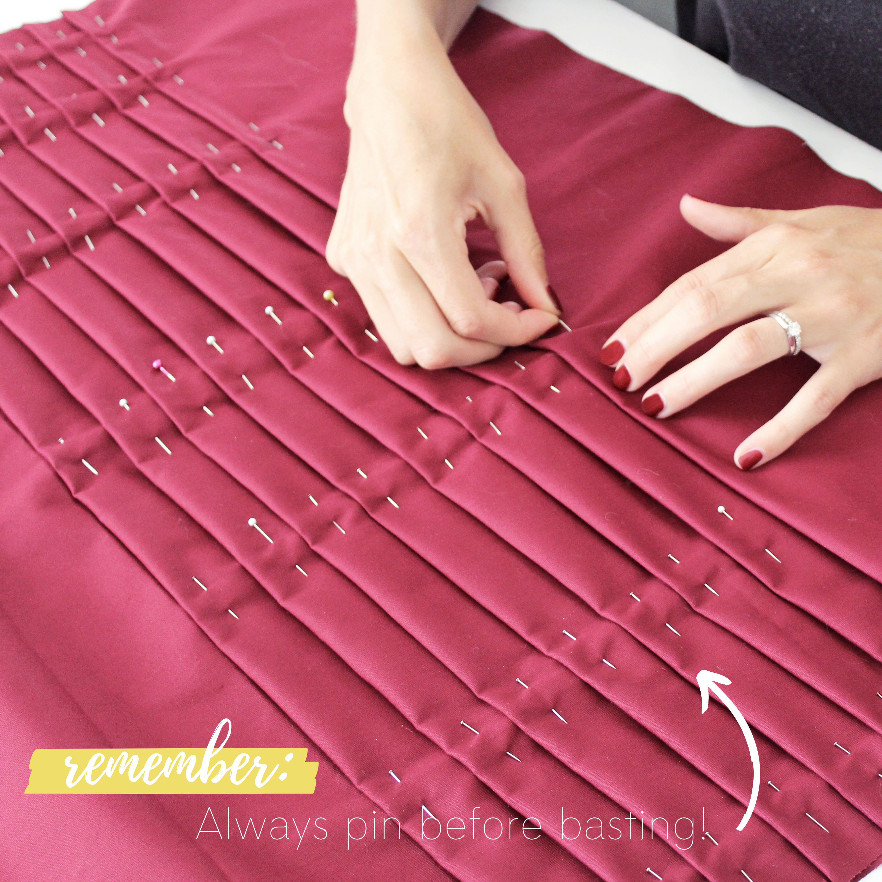Sewing Tutorial: How To Sew Knife Pleats, Step 2.1