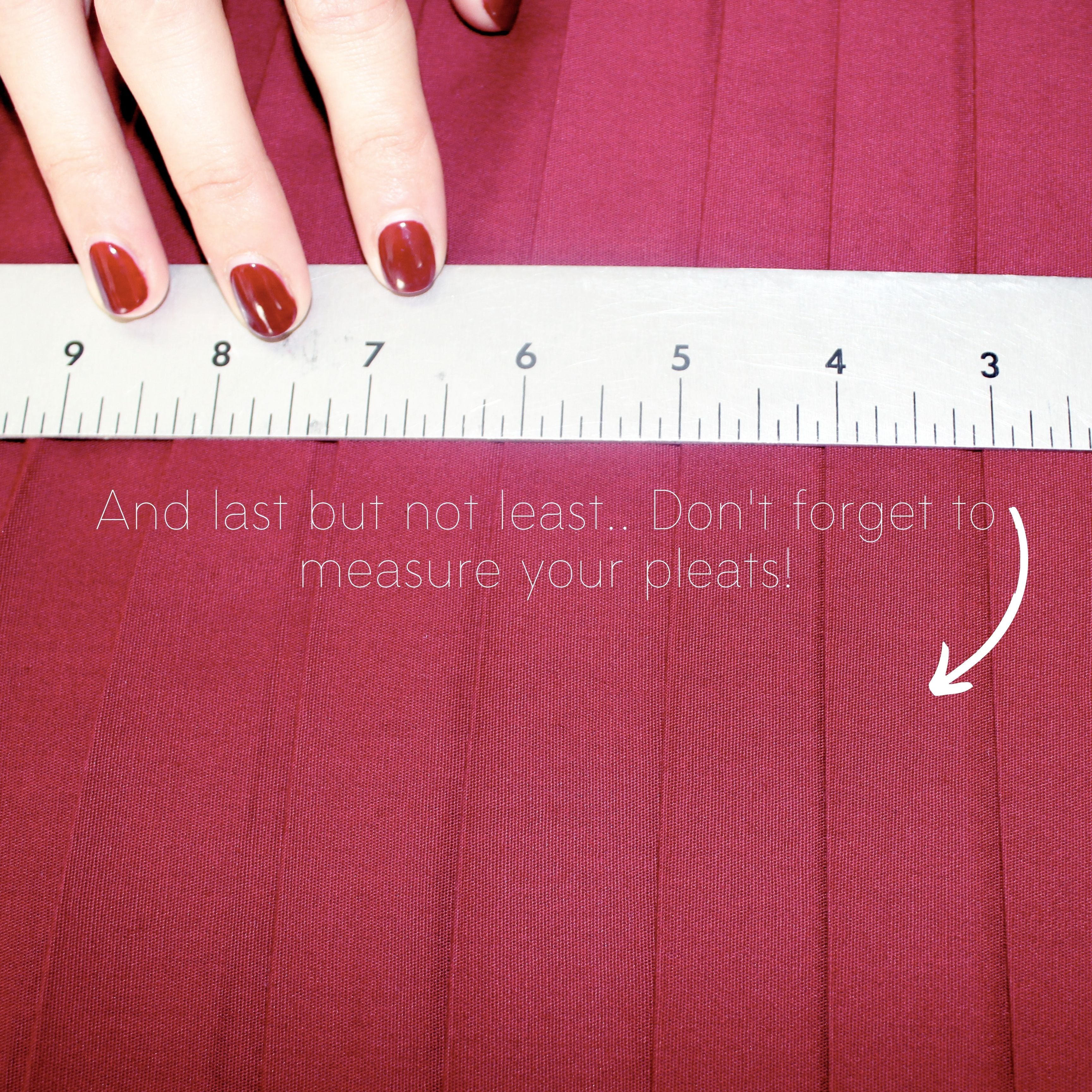 Sewing Tutorial: How To Sew Knife Pleats, Step 6.1