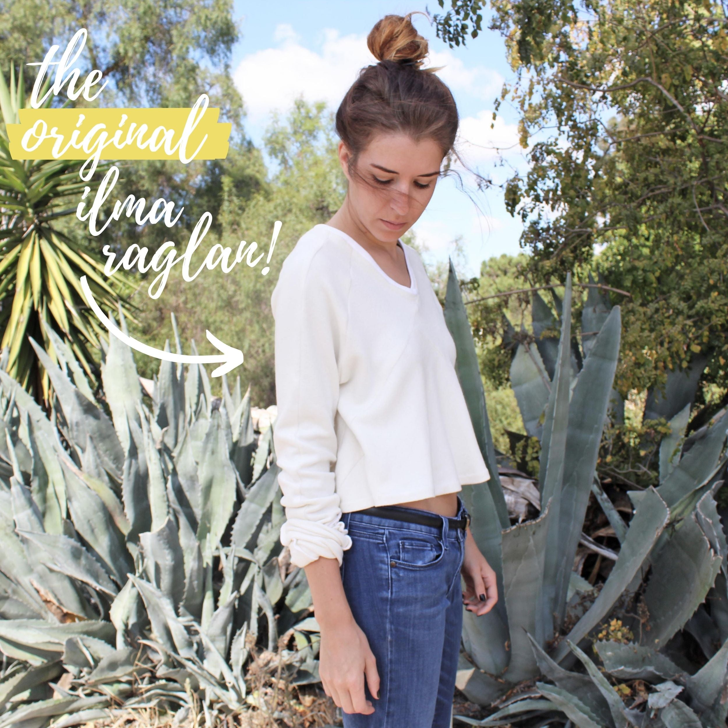 Sewing Pattern Variation: The Ilma Raglan Original Version