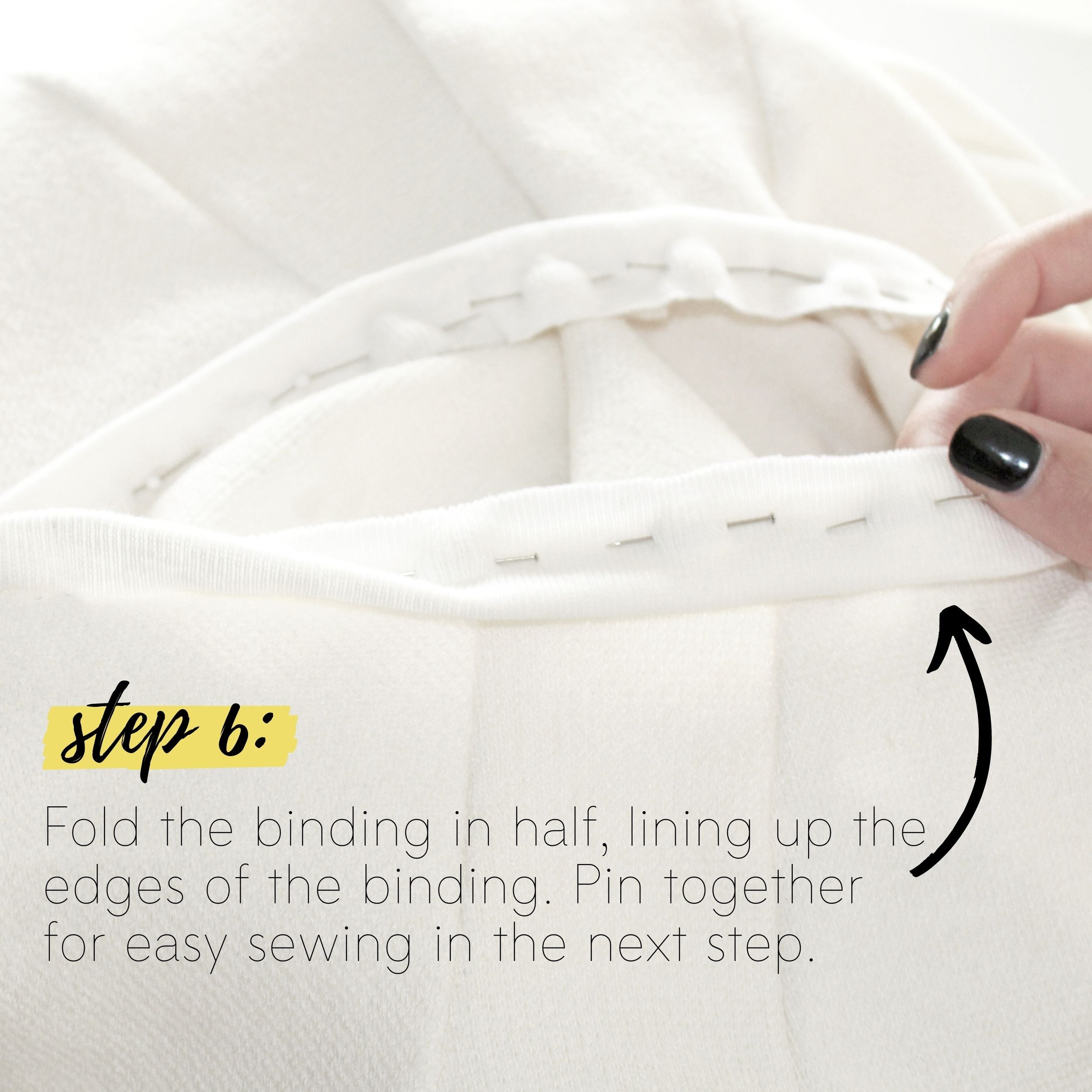 How To Sew A Knit Seam Binding Sewing Tutorial: Step 6